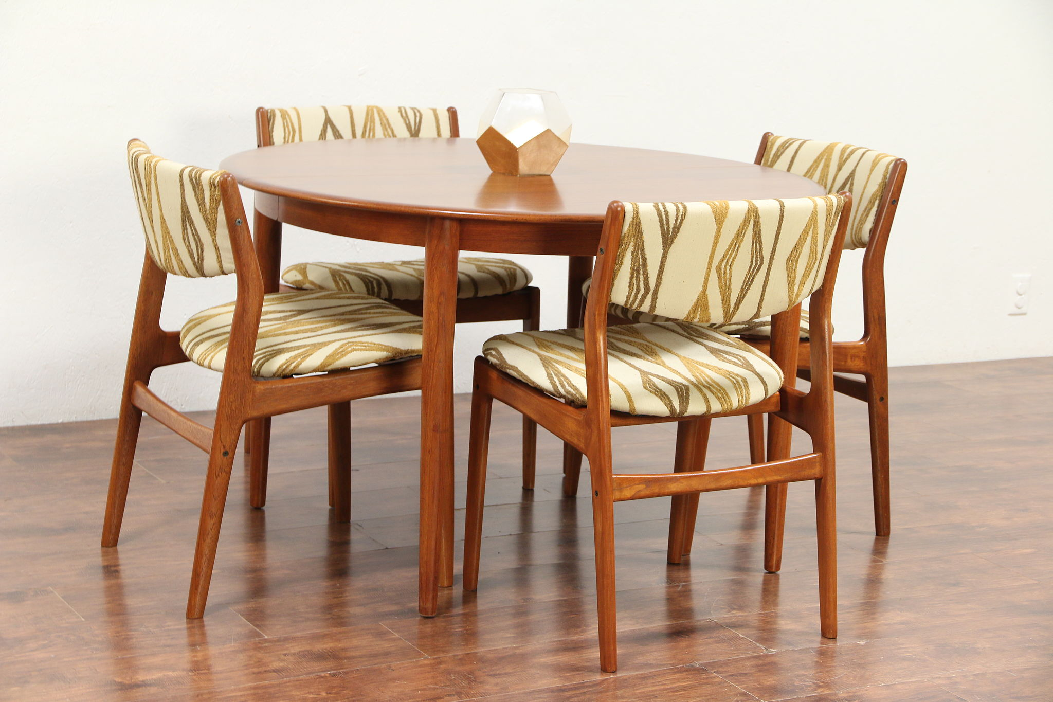Sold Midcentury Modern Danish Teak Dining Set Table 4 Chairs Glostrup 29717 Harp Gallery Antiques Furniture