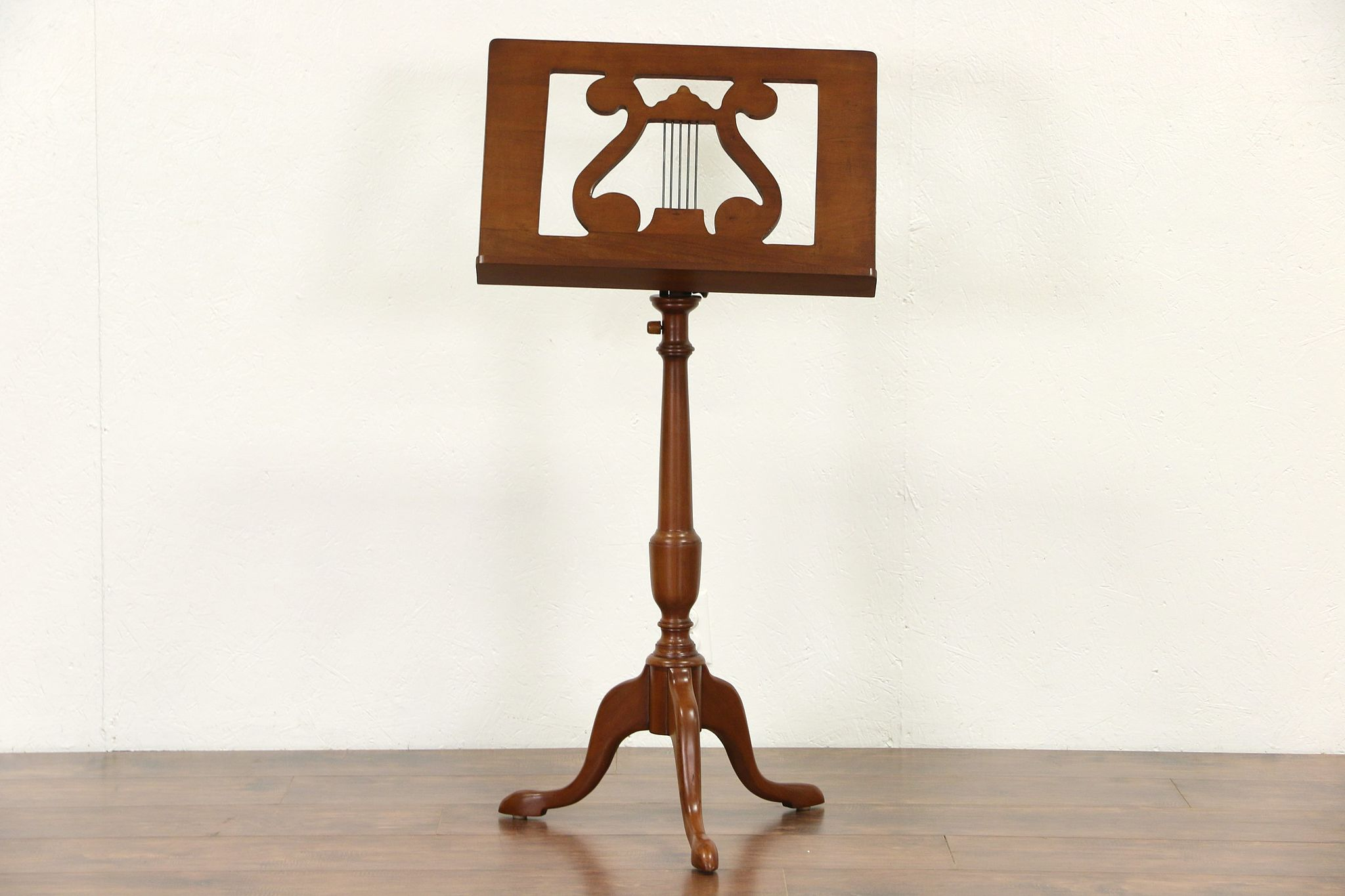 Sold Music Stand Vintage Mahogany With Lyre Adjustable