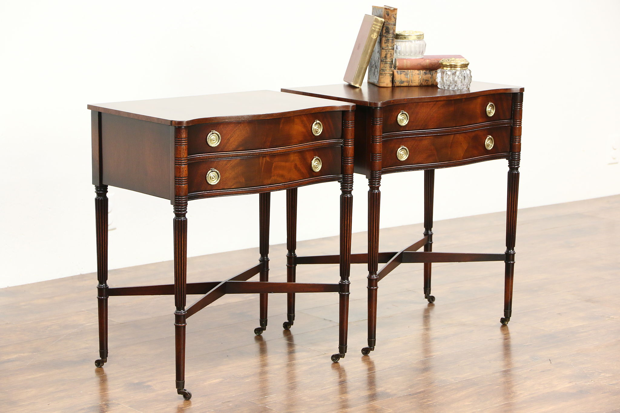 Sold pair of traditional sheraton style mahogany vintage for What is sheraton style furniture