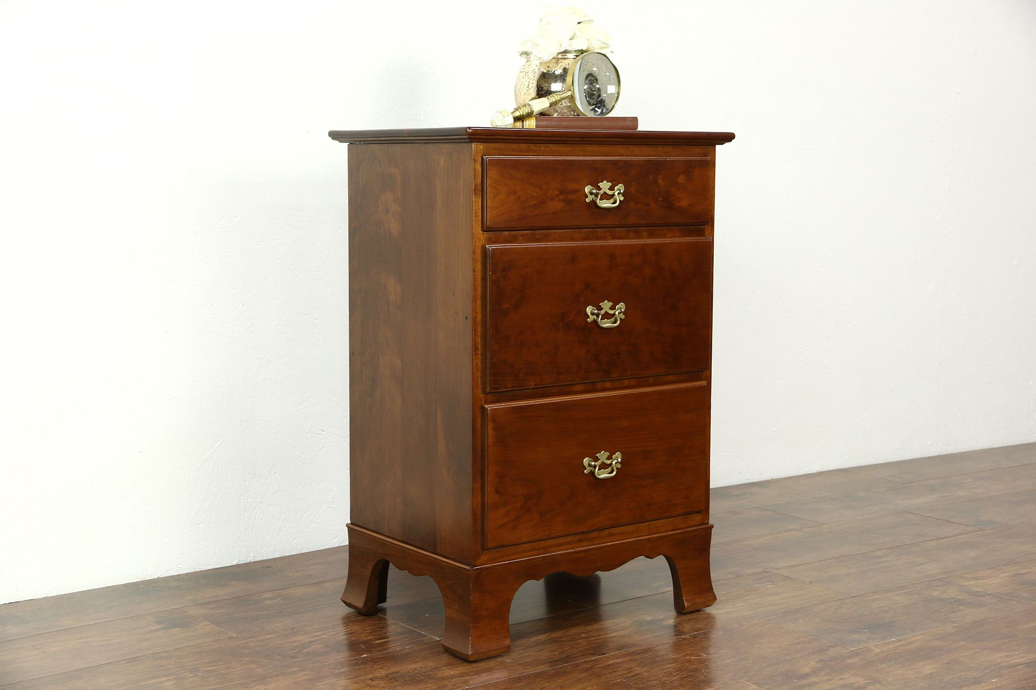 Stickley Of NY Signed Vintage Cherry Chest, Nightstand Or End Table ...