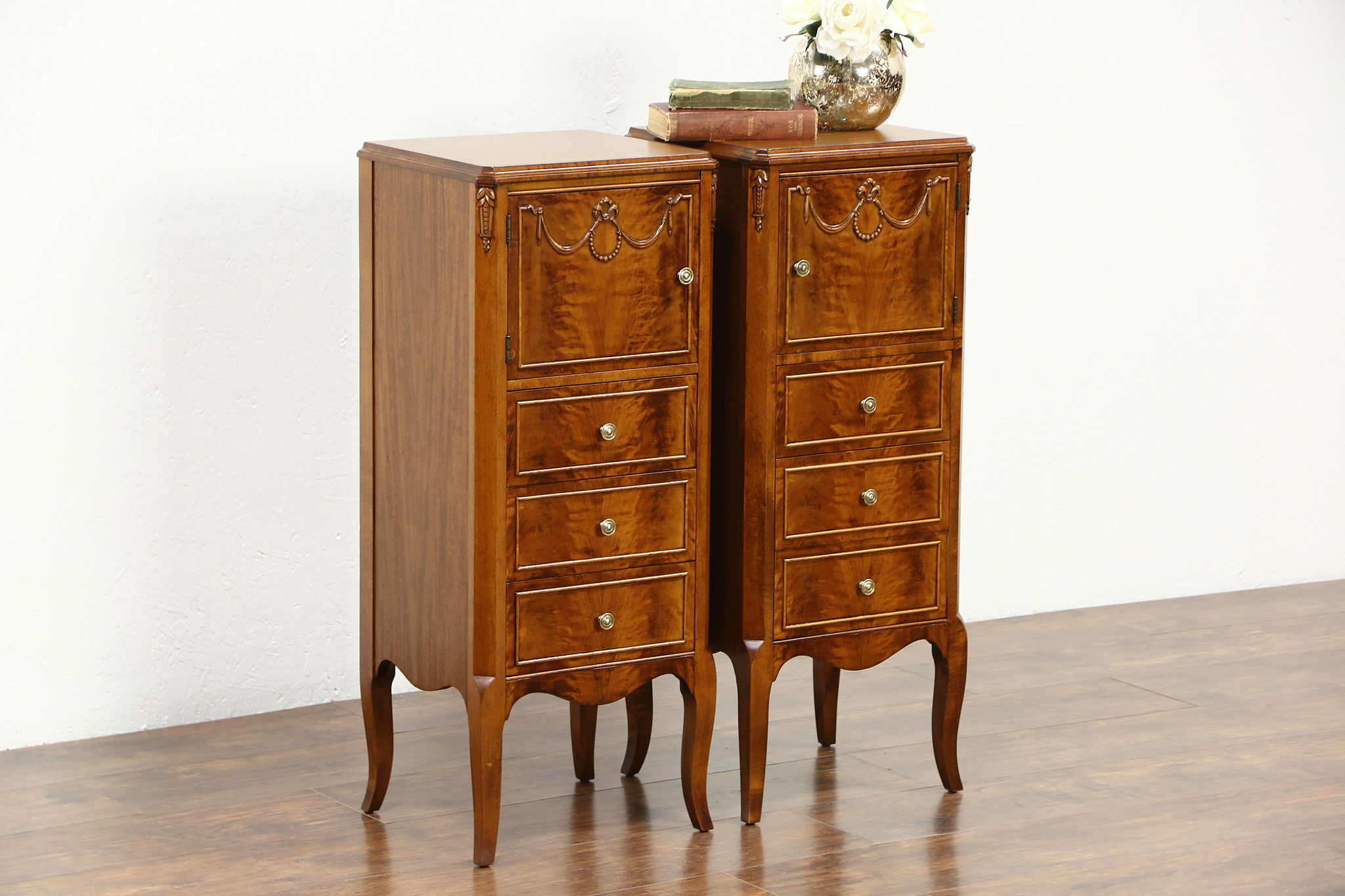 photo 1 pair 1930u0027s vintage mahogany bedside nightstands
