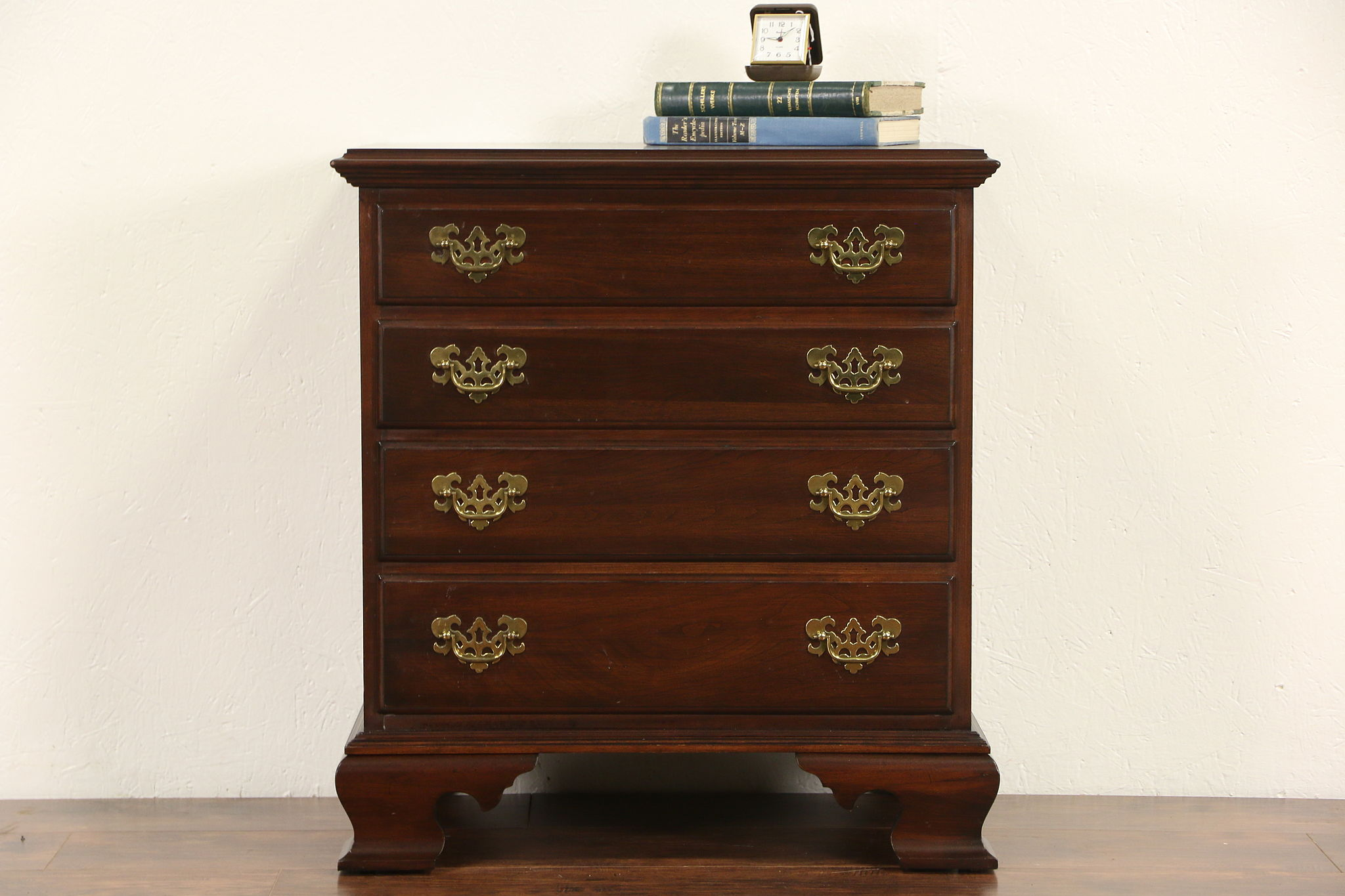 Ethan Allen Signed Cherry Vintage Nightstand Lamp Table Or Small Chest