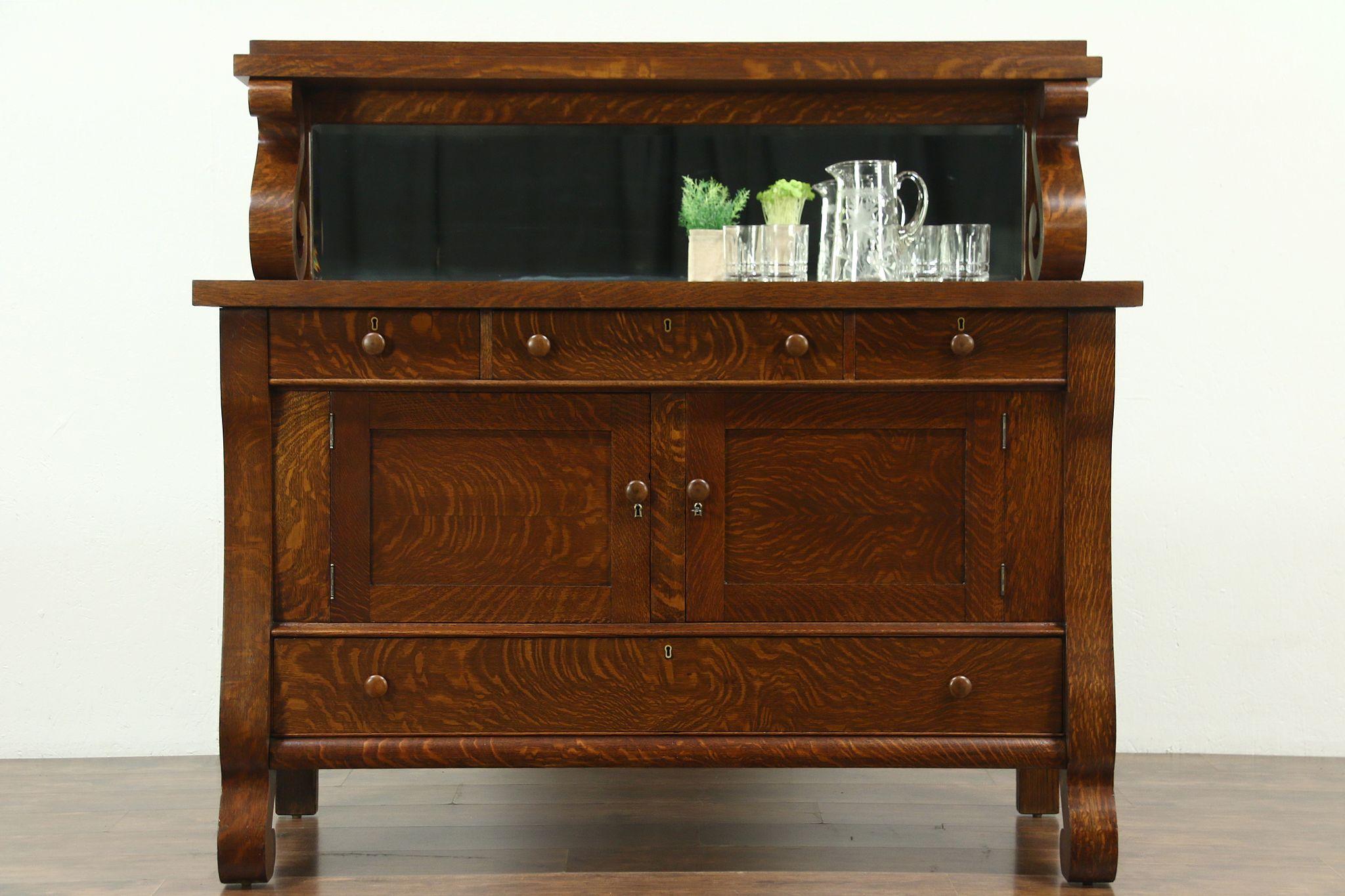 Oak Empire 1900 Antique Sideboard