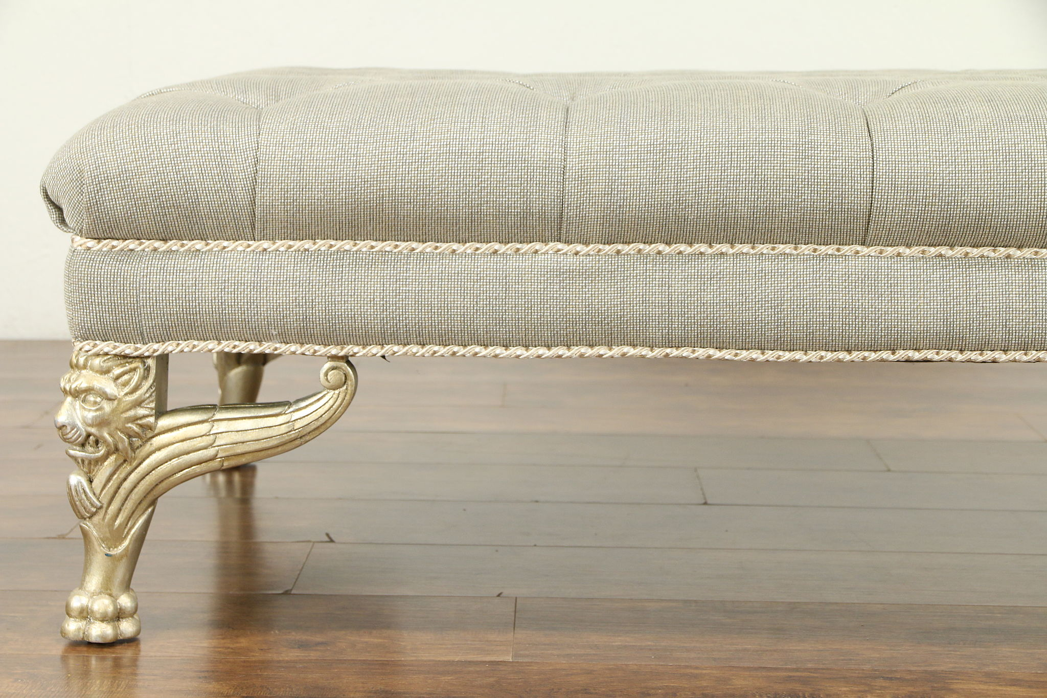 Astonishing Bench Stool Or Hassock Carved Silver Gilt Lion Legs Henredon 30964 Ocoug Best Dining Table And Chair Ideas Images Ocougorg