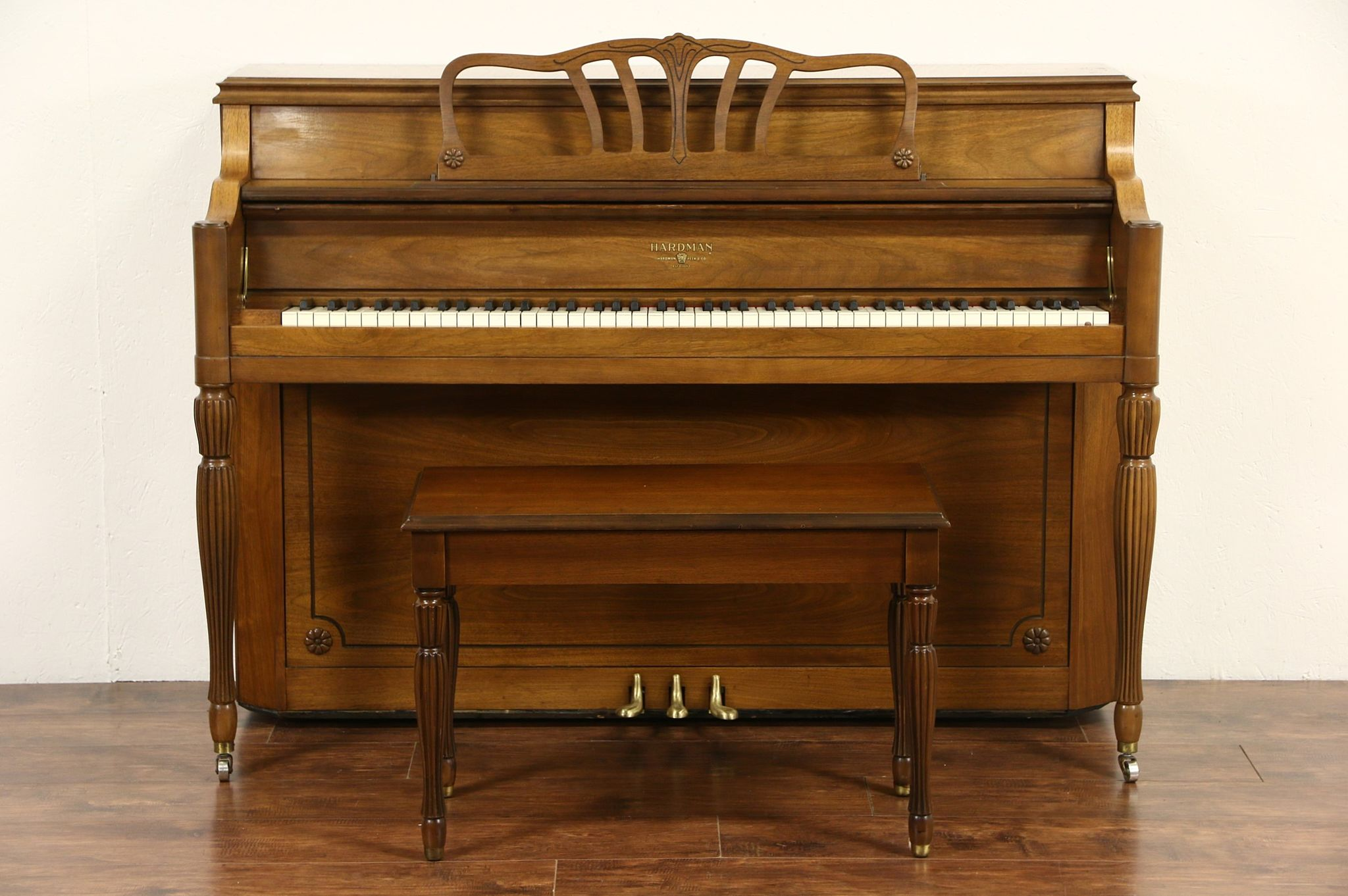 SOLD - Hardman Signed 1960 Vintage Traditional Walnut ...