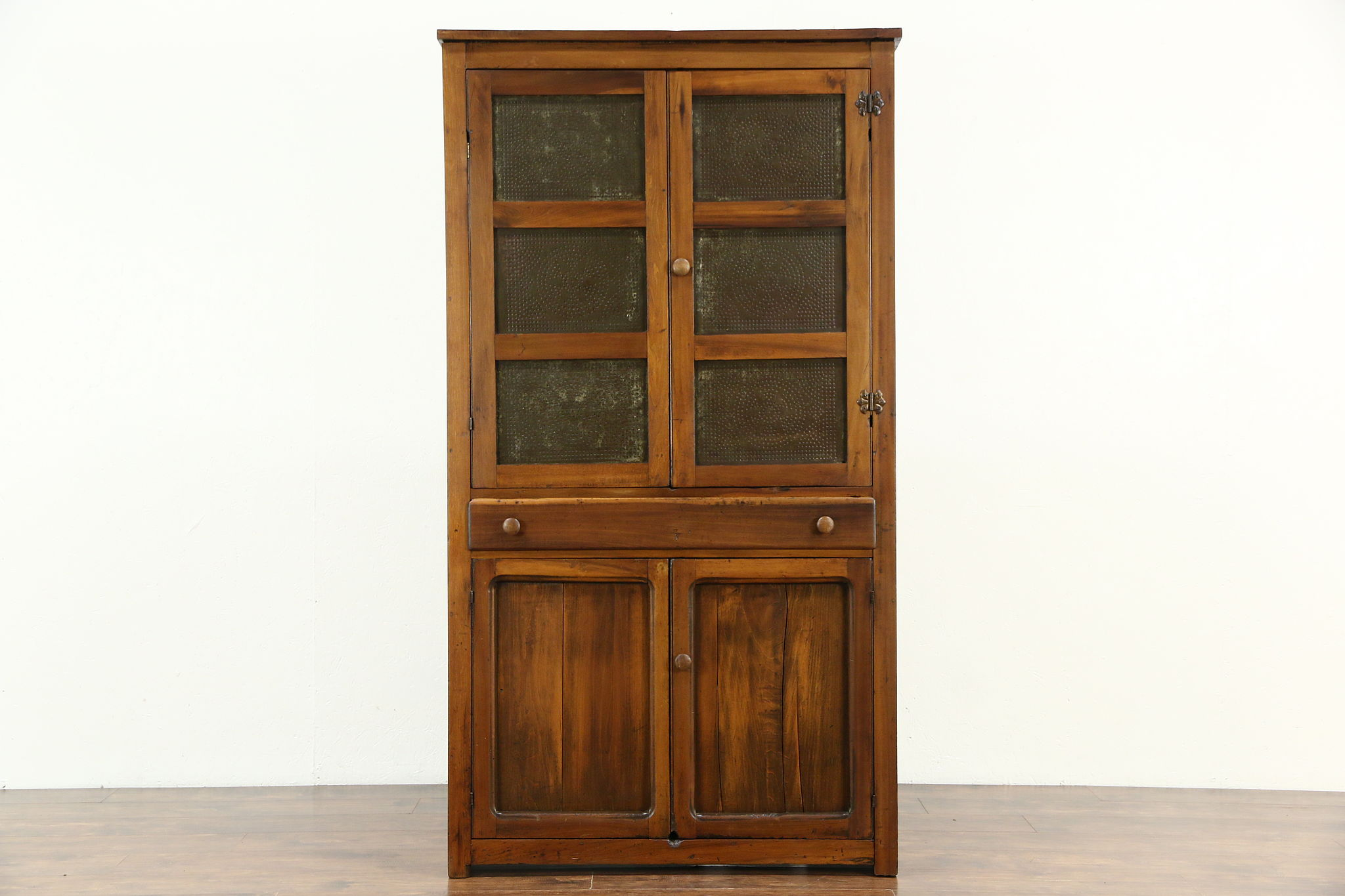 Primitive Antique Kitchen Pantry Pie Safe Cupboard Punched Tin Doors & SOLD - Primitive Antique Kitchen Pantry Pie Safe Cupboard Punched ...