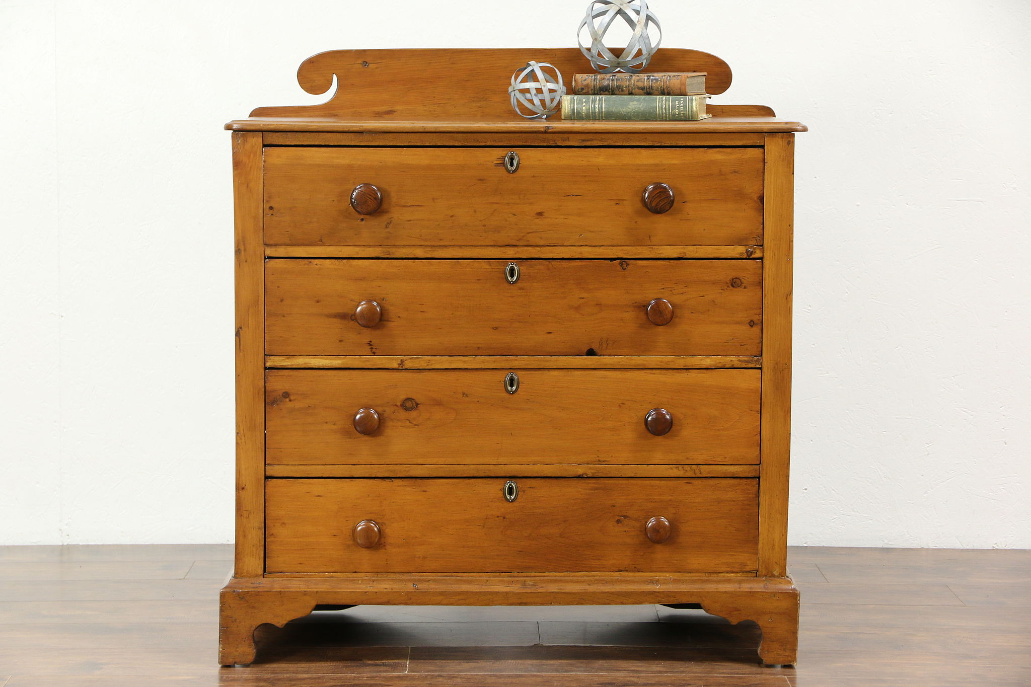 Country Pine Antique 1830 S Hand Made Linen Chest Or Dresser