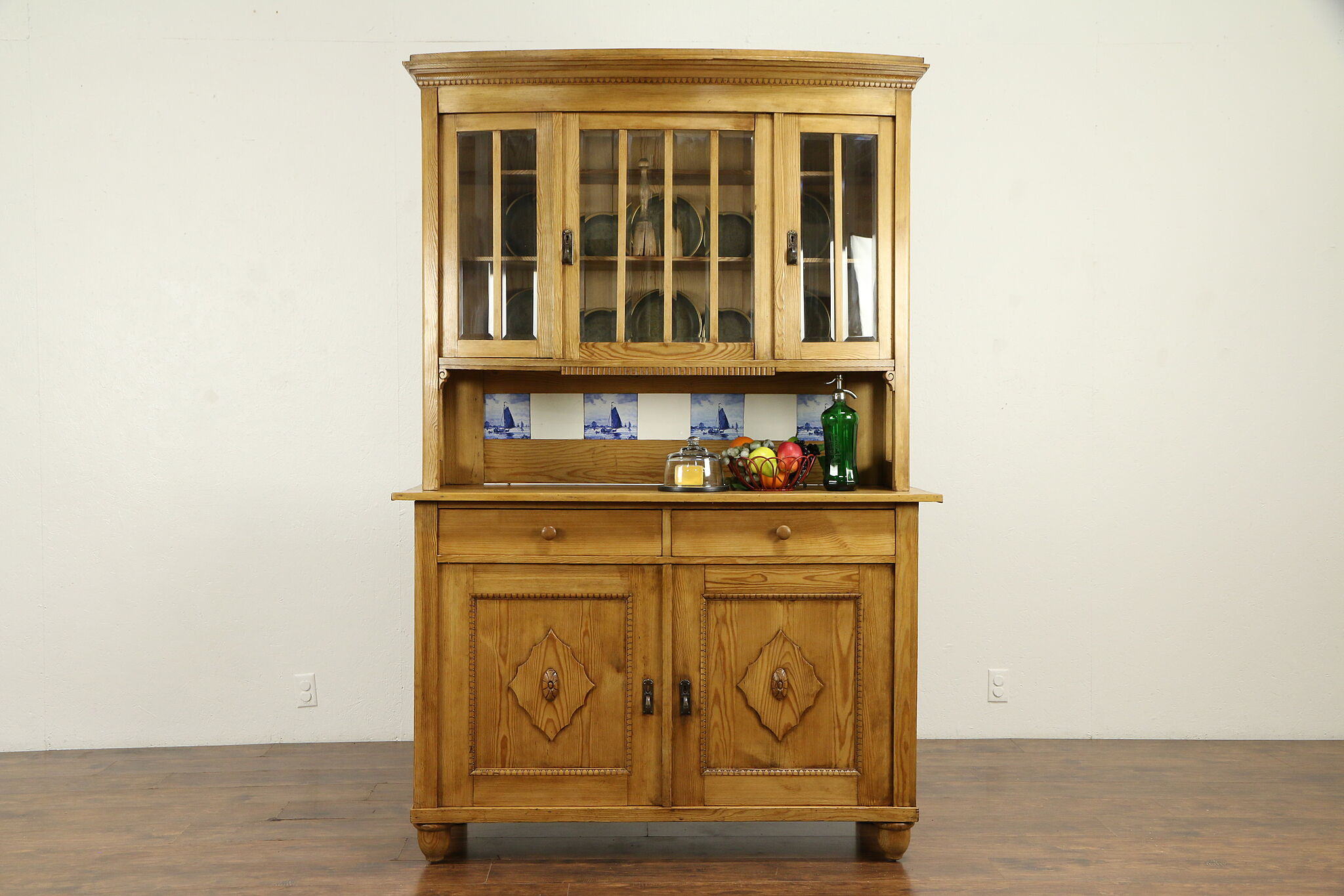 Bohemian Antique Country Pine Sideboard