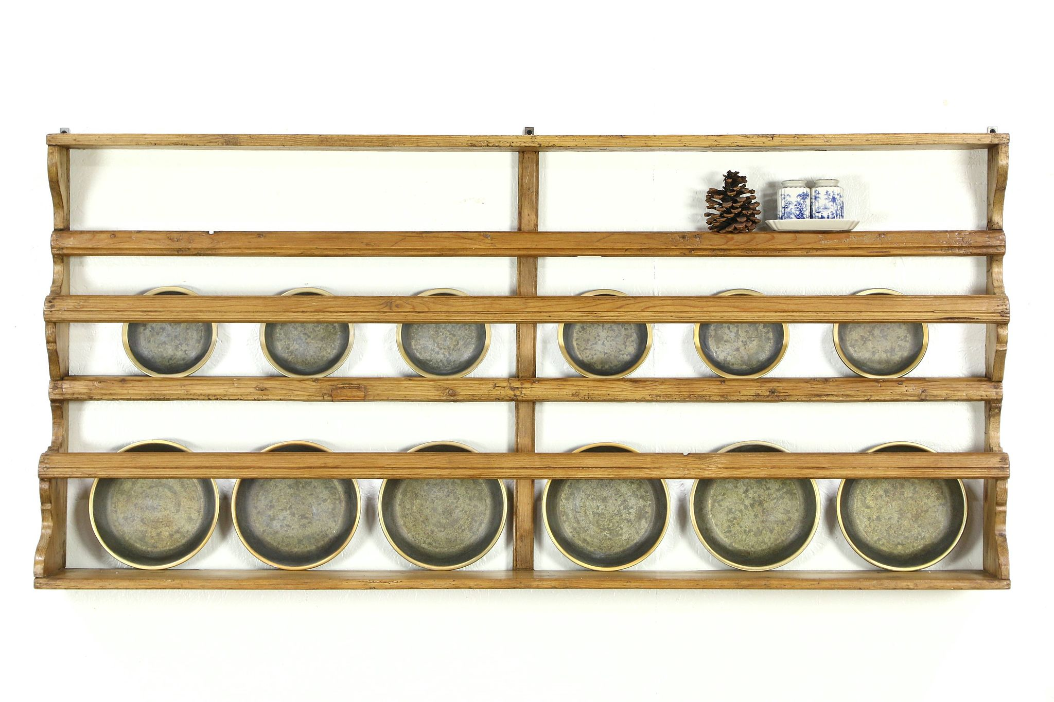 Sold Country Pine Irish Antique 1840 Wall Plate Rack Or
