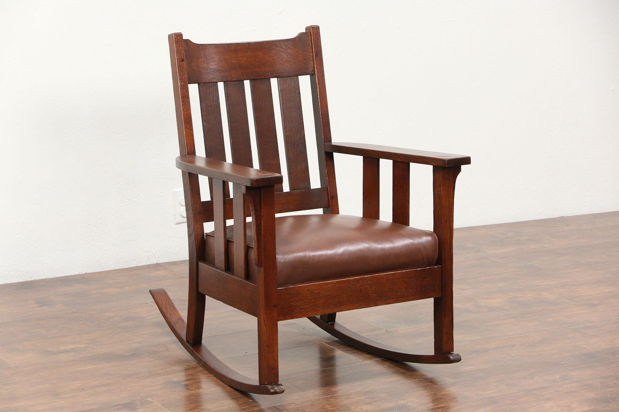 Genial Arts U0026 Crafts Mission Oak Rocker, 1905 Antique Craftsman Rocking Chair