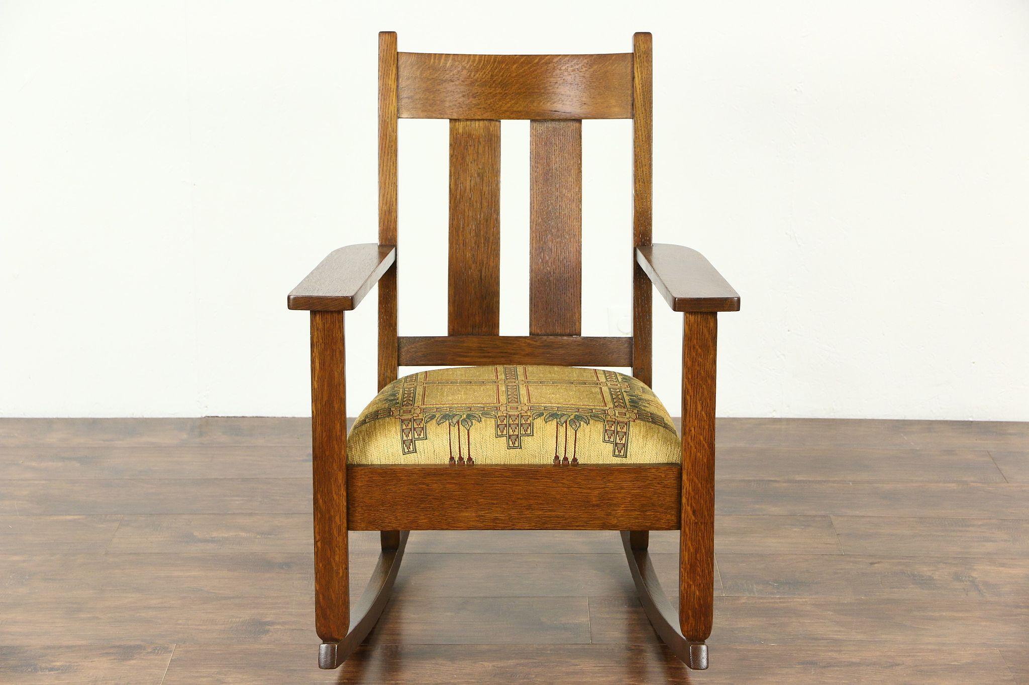 Sold Arts Amp Crafts Mission Oak Rocker Antique Craftsman