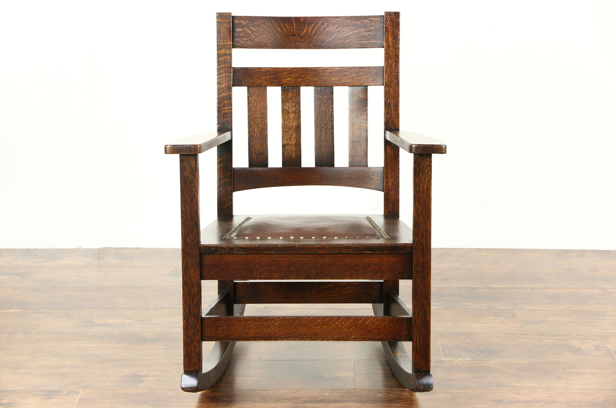 SOLD Arts & Crafts Mission Oak Rocking Chair Craftsman 1905