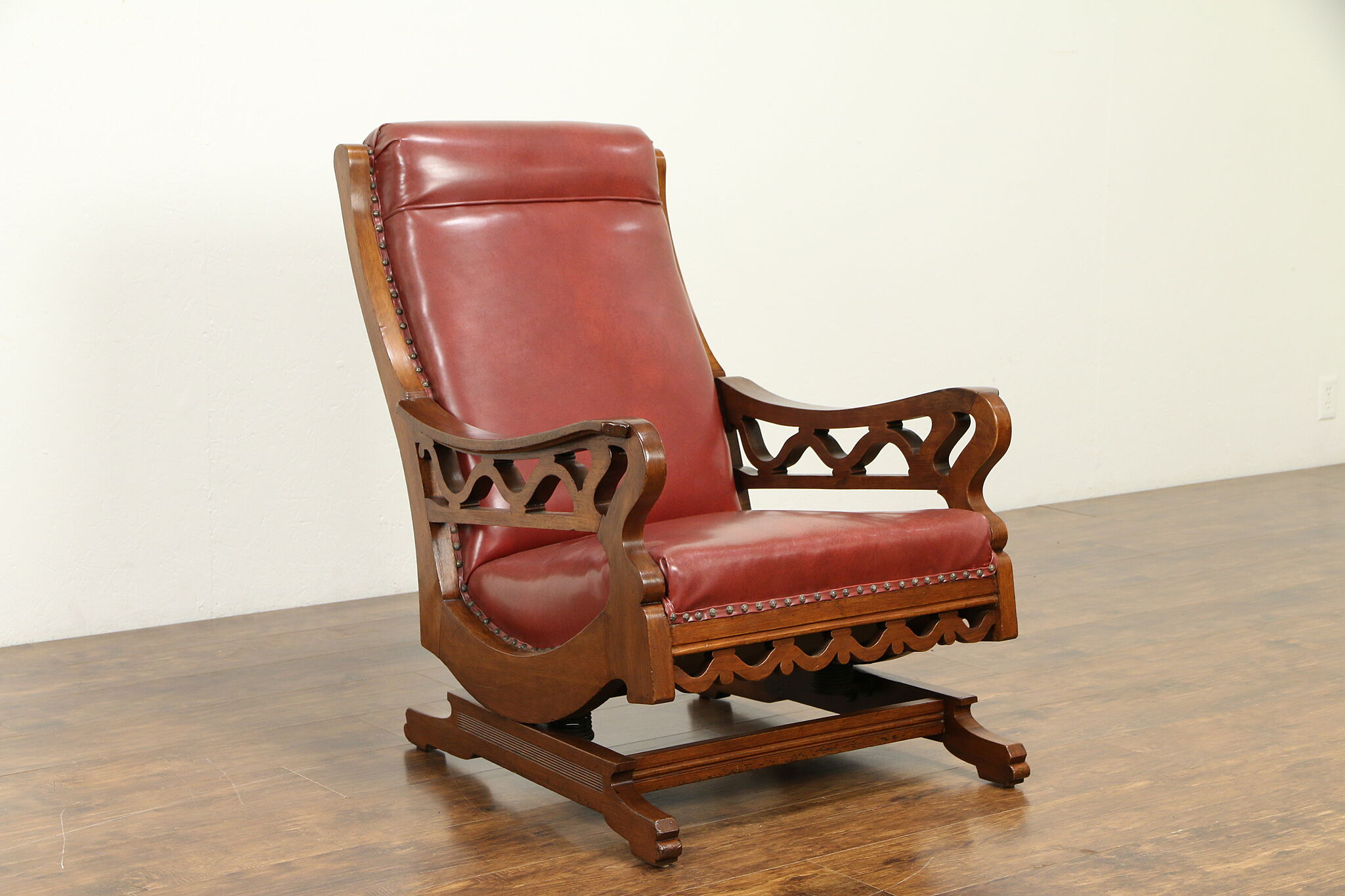 Antique Walnut Platform Rocking Chair