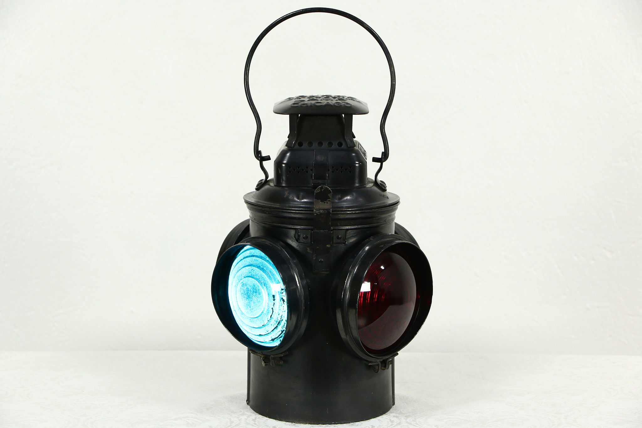 SOLD - Adlake Chicago Signed Antique Railroad Switch Lamp or Oil ...
