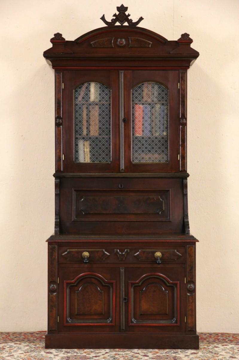 Sold Victorian Child Size 1870 Antique Walnut Secretary