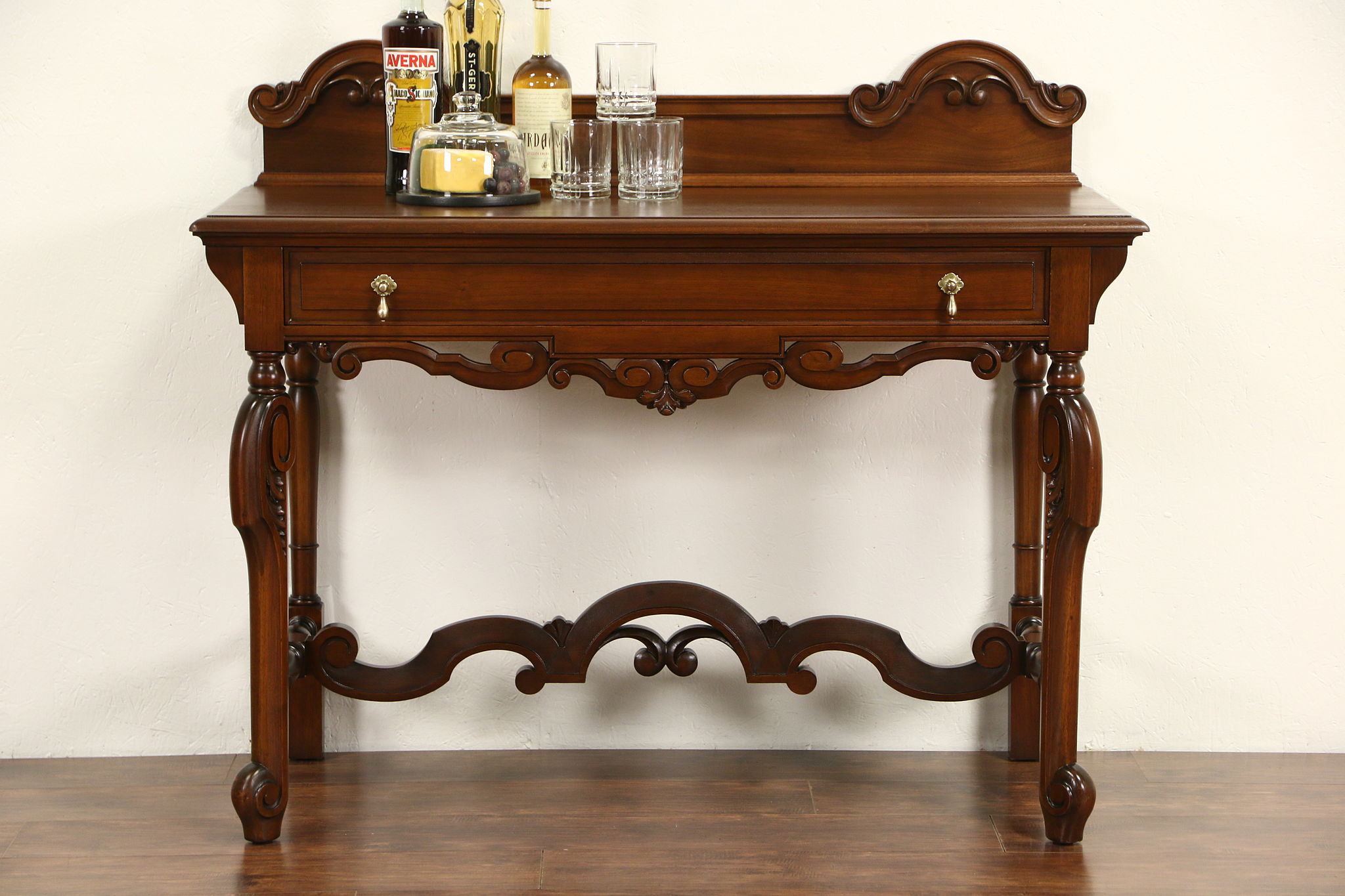 antique hall table. Beautiful Antique Carved 1920 Antique Walnut Server Sideboard Or Hall Table  For V