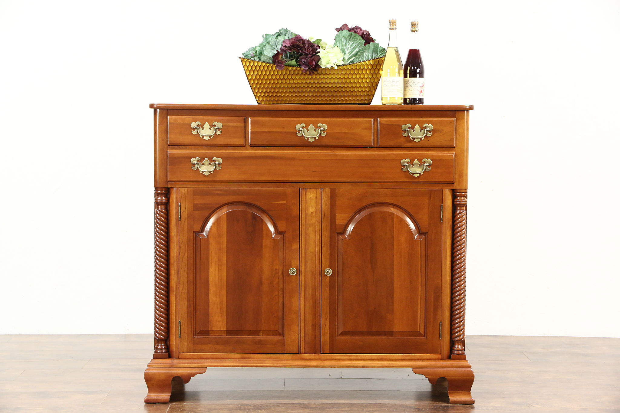 Cherry Vintage Sideboard, Server Or Console Cabinet, TV Console, Signed  Willett