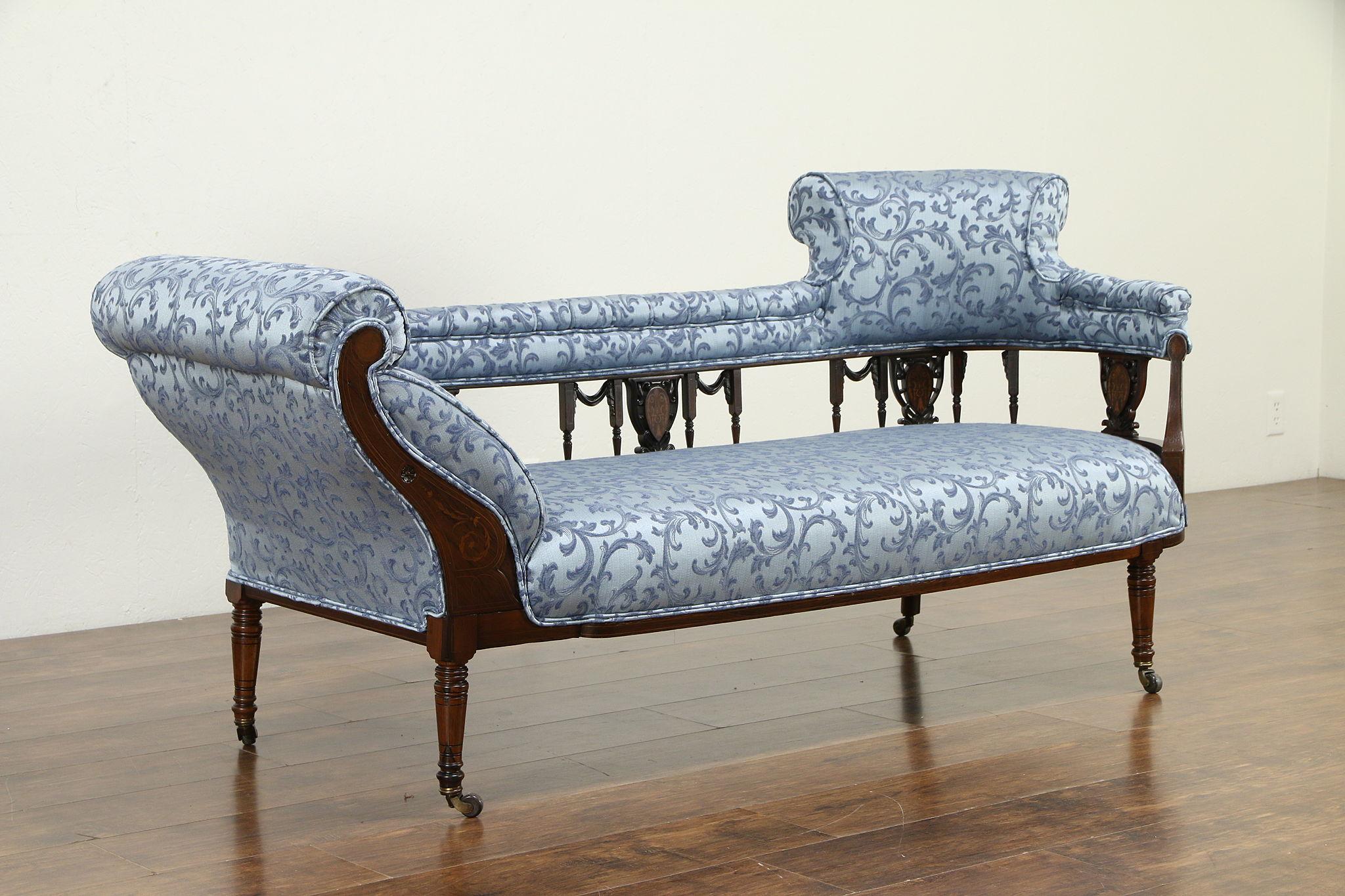 Victorian English Antique Rosewood Sofa