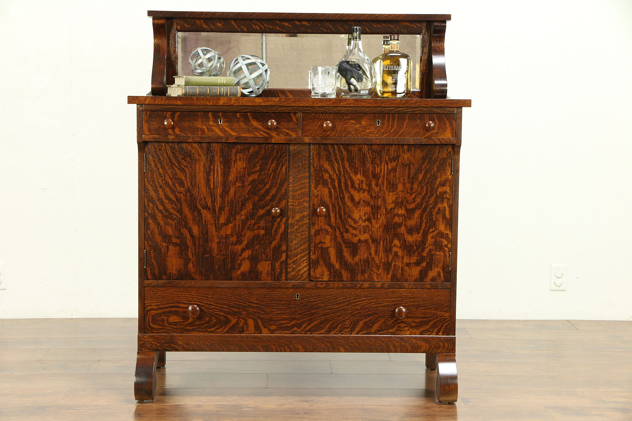 Quarter Sawn Oak Antique Sideboard