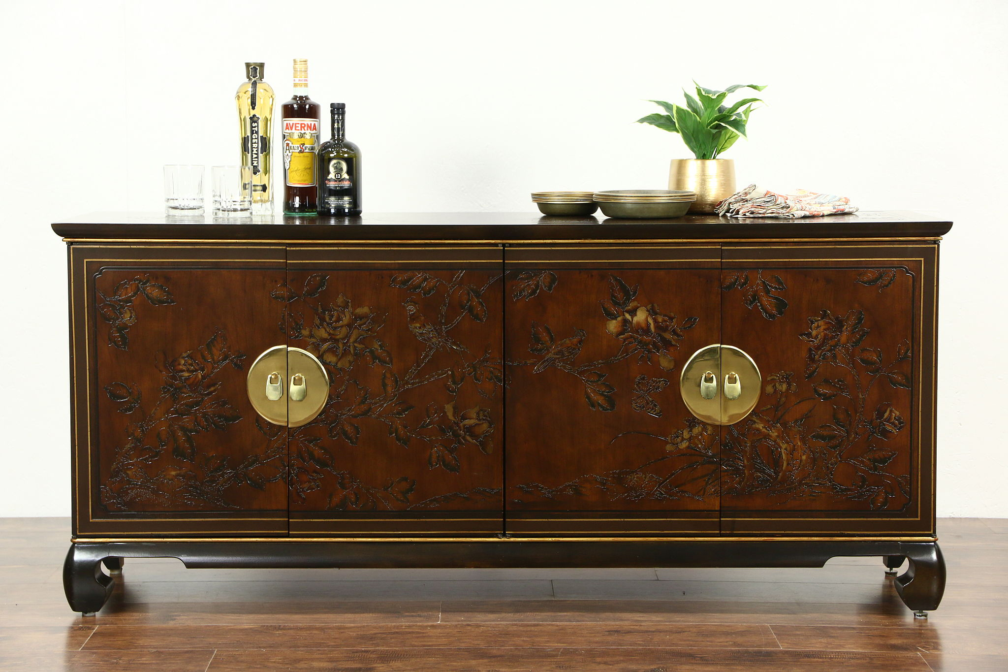 Bon Drexel Heritage Connoisseur Chinese Vintage Sideboard Server, Hall Or TV  Console