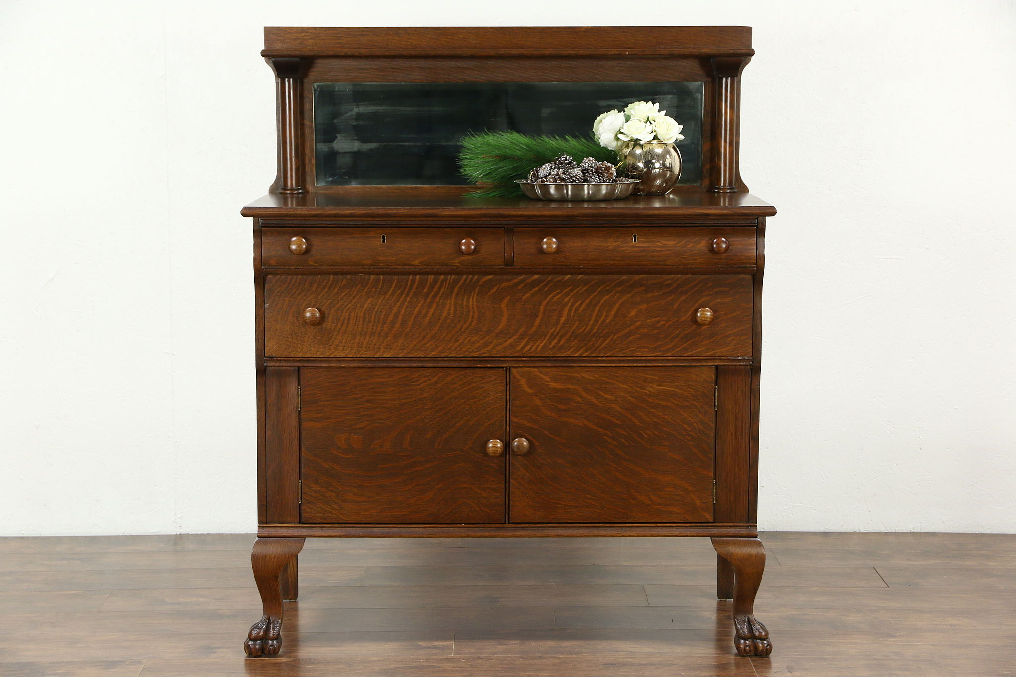 Empire 1910 Antique Oak Sideboard