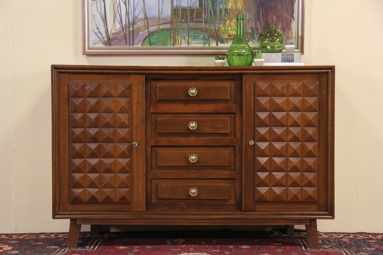 Sold Midcentury Modern 1940s Vintage Scandinavian Oak Sideboard