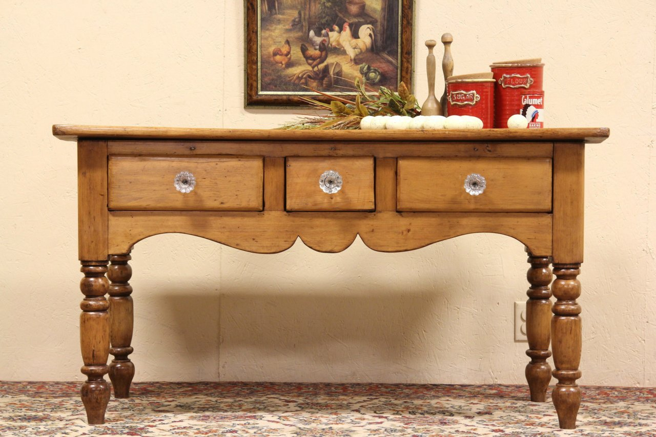 Sold Country Pine Sideboard Server Or Console Harp Gallery Antique Furniture