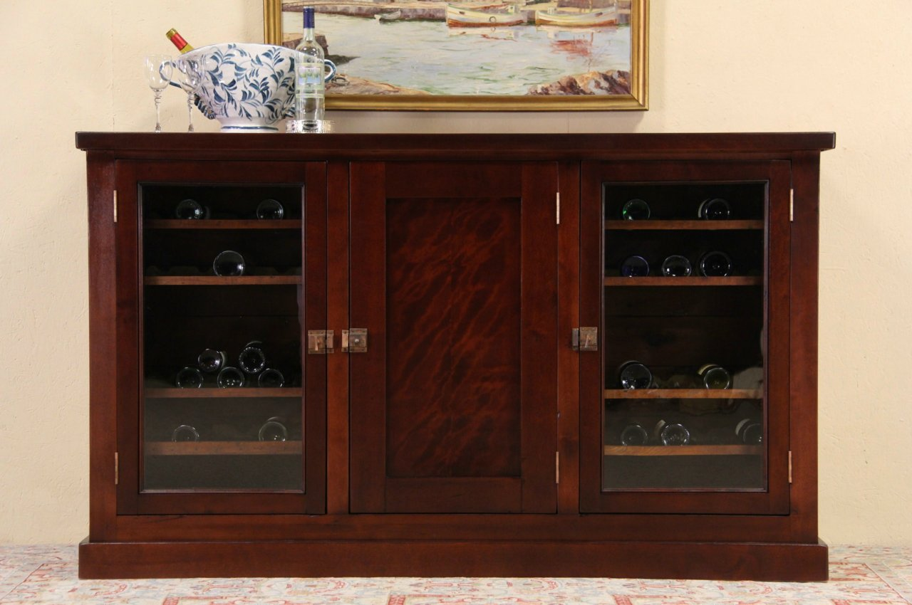 Sold Back Bar With Wine Cabinets Antique Icebox Counter