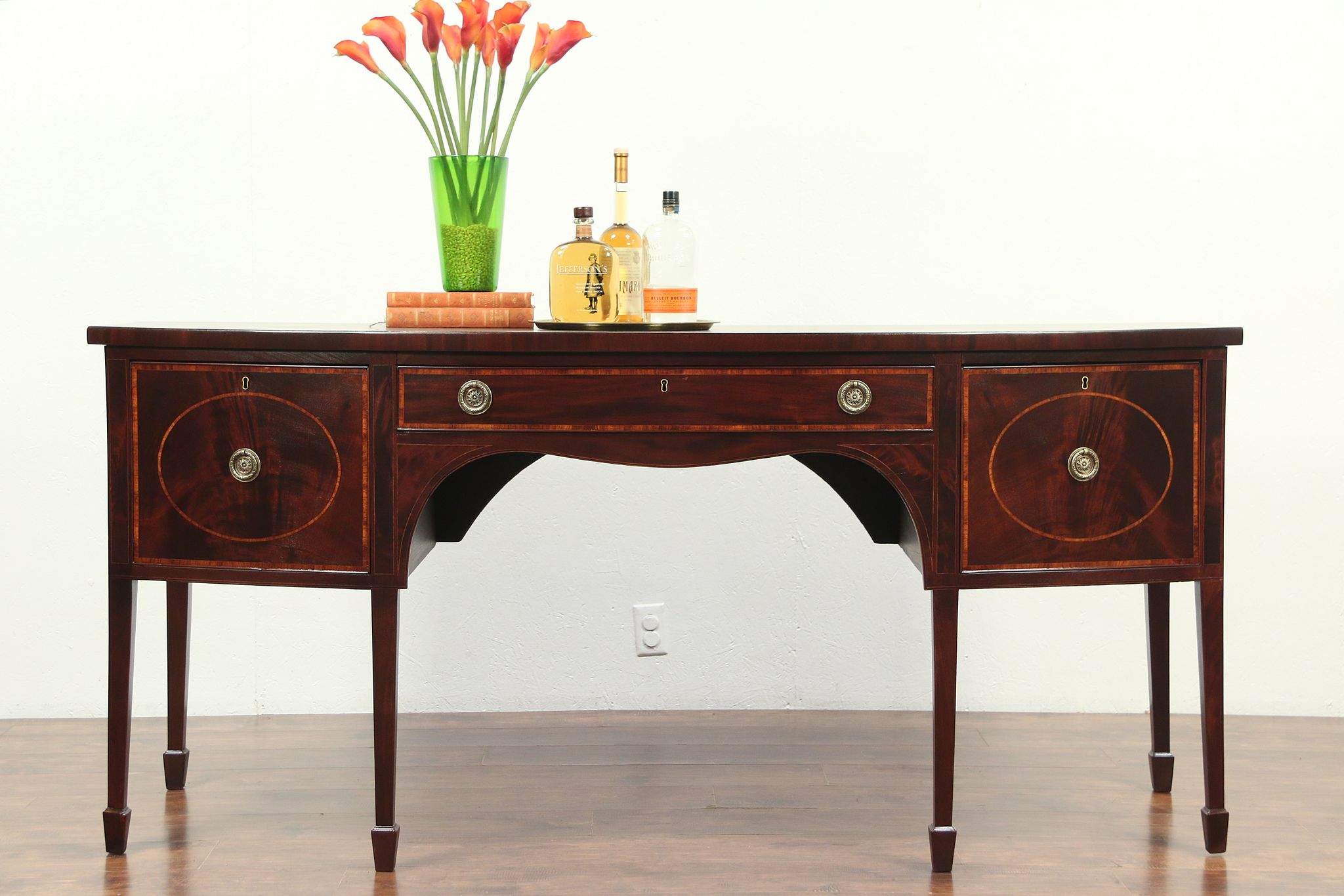 Picture of: Sold Hepplewhite 1790 Antique Mahogany Sideboard Server Buffet Wine Drawer 28984 Harp Gallery Antiques Furniture