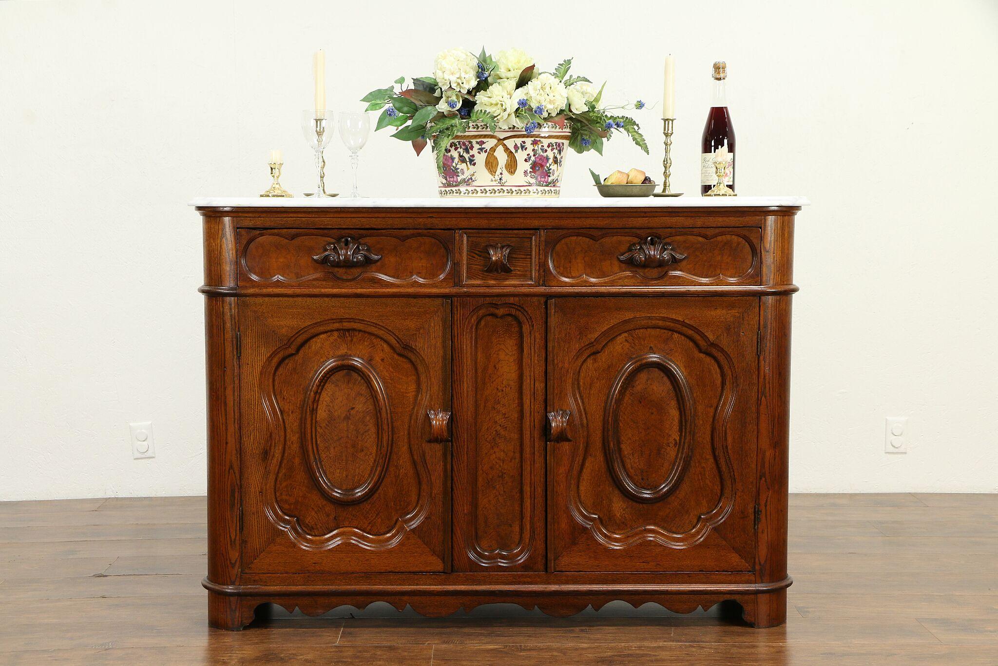 Victorian Antique Chestnut Sideboard