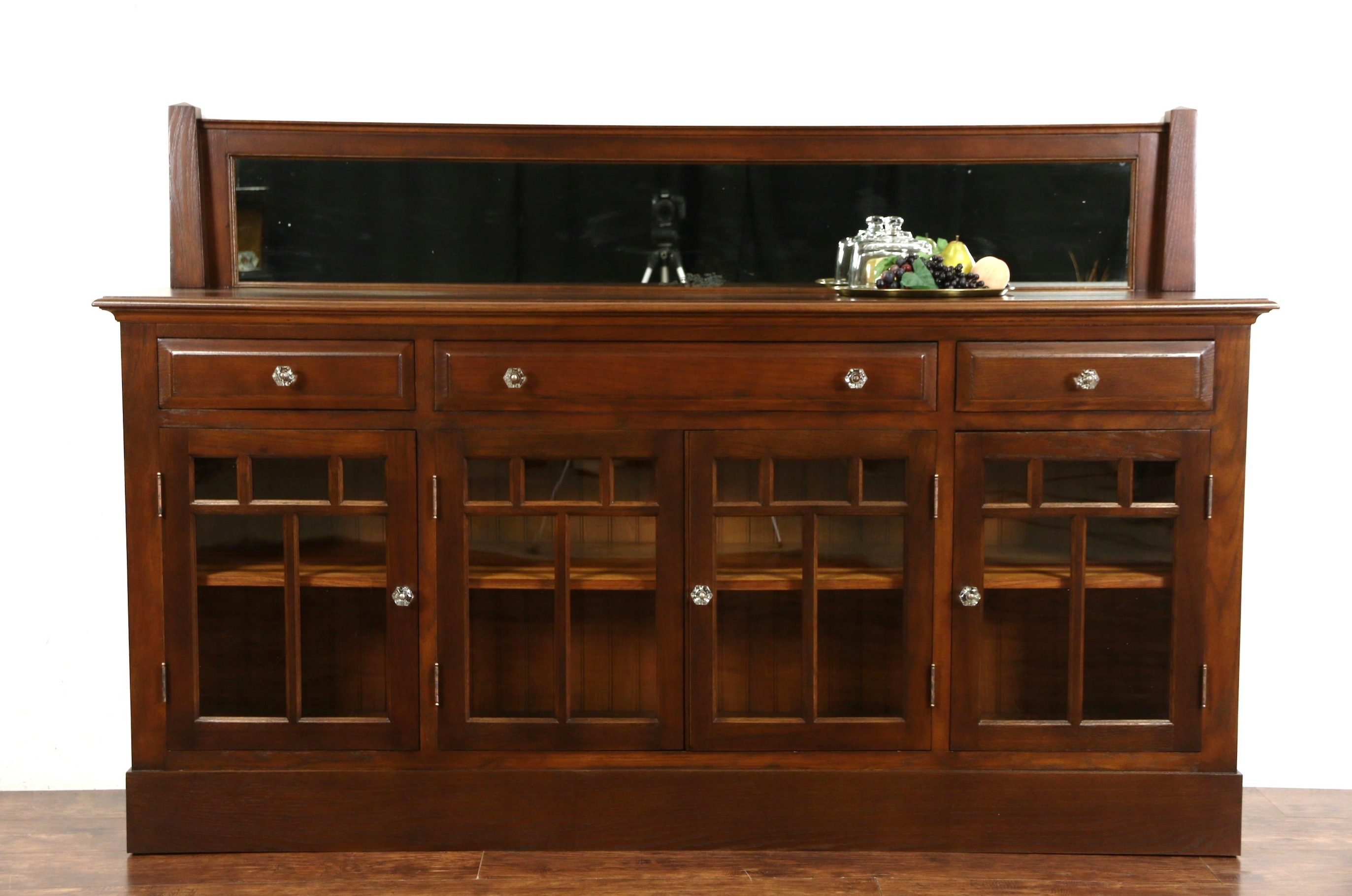 Antique arts and crafts furniture - Arts Crafts Mission Oak Antique 1910 Craftsman Server Or Sideboard