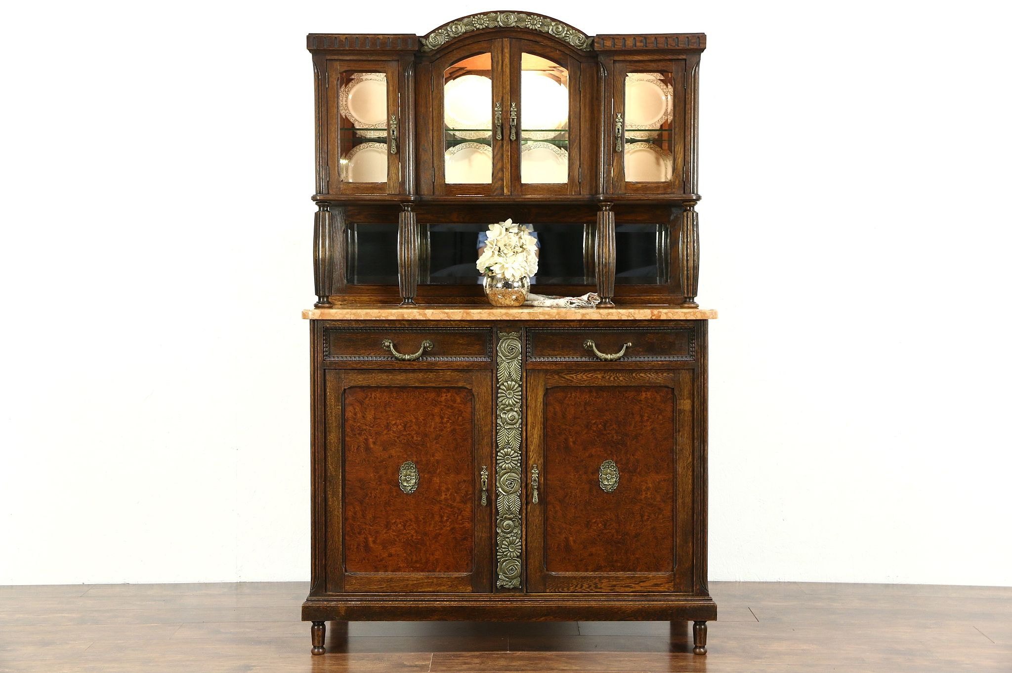Art deco period furniture Painted Sold Art Deco 1920 Antique Marble Top Server Sideboard China Cabinet Belgium Harp Gallery Jeanluc Ferrand Antiquaire Sold Art Deco 1920 Antique Marble Top Server Sideboard China