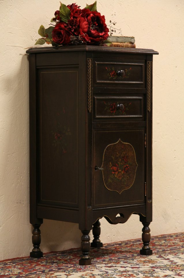 Smoking Stand, Humidor Or 1920u0027s Antique Night Stand ...