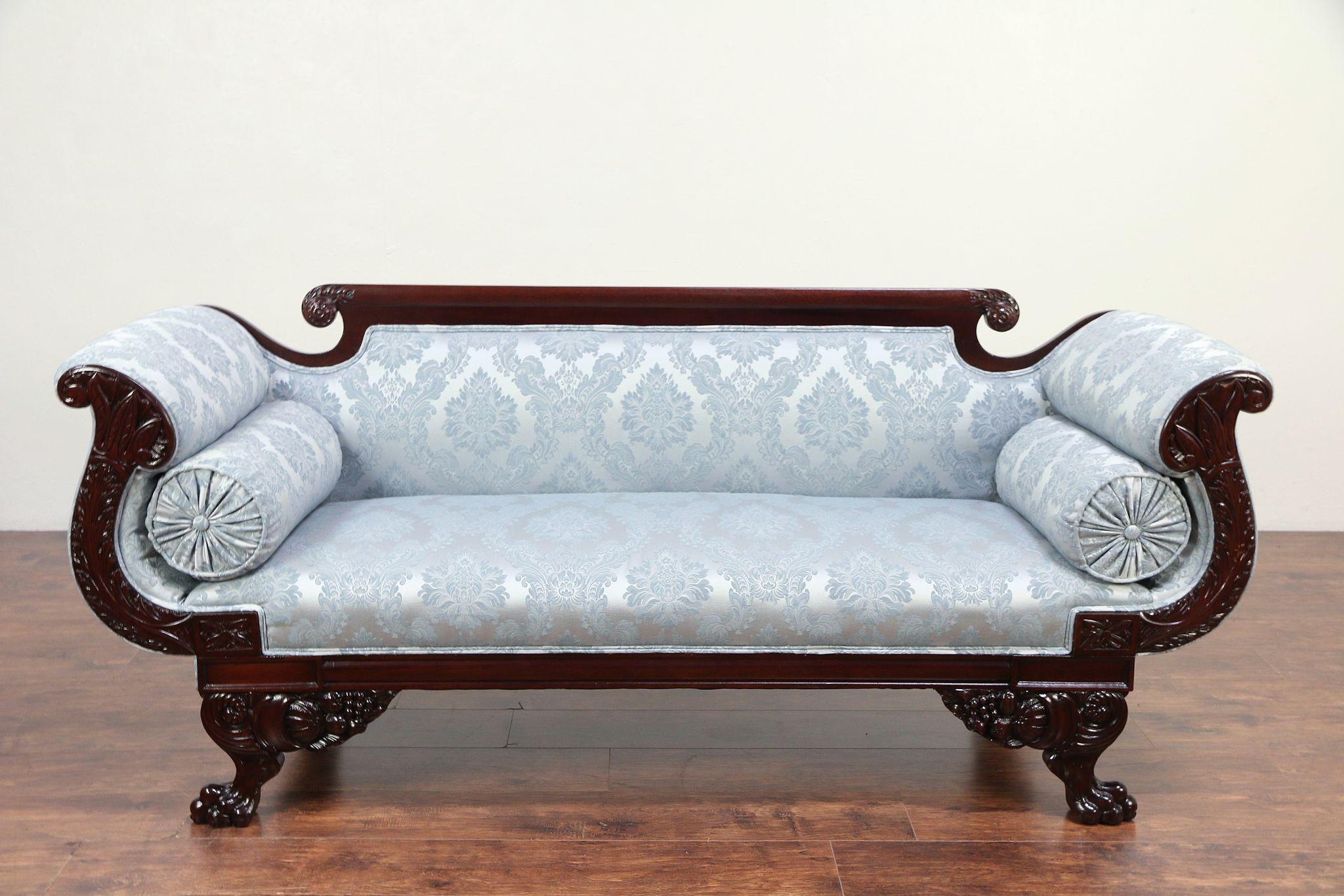 American Empire 1825 Antique Sofa