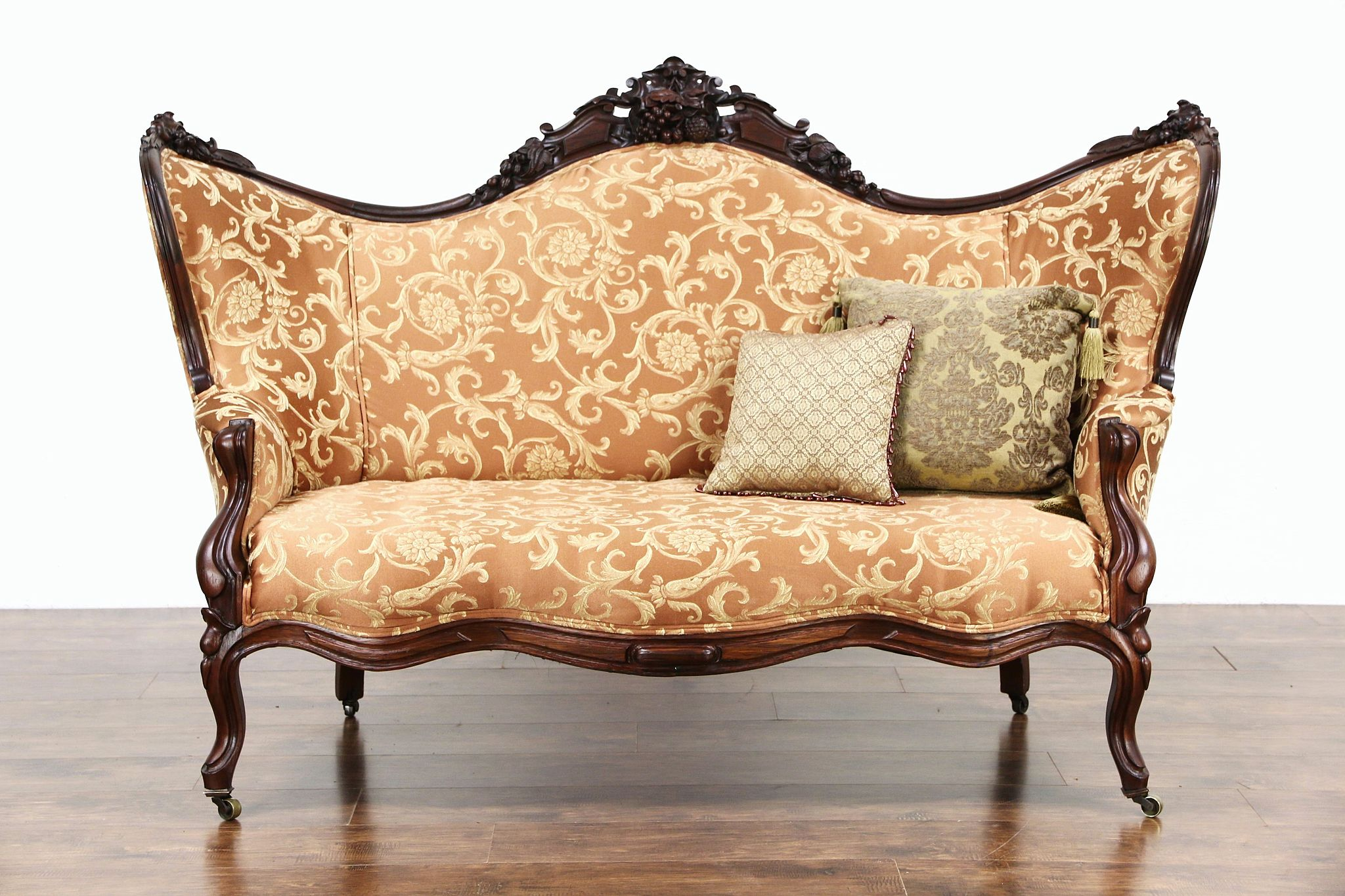 Sold victorian 1860 antique carved grape fruit motif for Furniture upholstery
