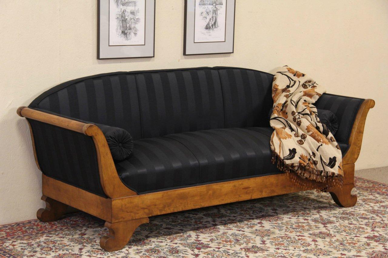 Sold Biedermeier Or Empire 1910 Antique Sofa Newly