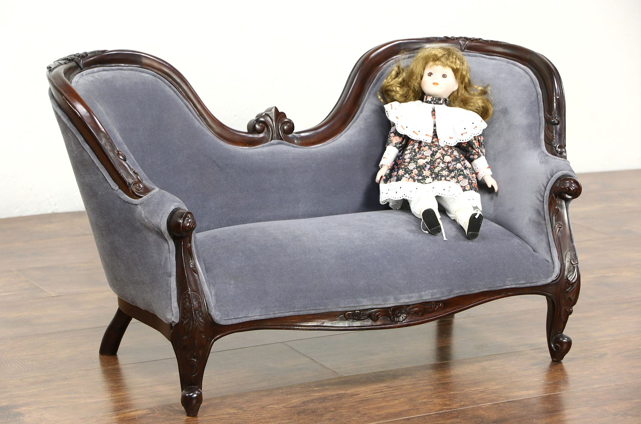 child sized furniture sold style carved mahogany vintage child or 11083
