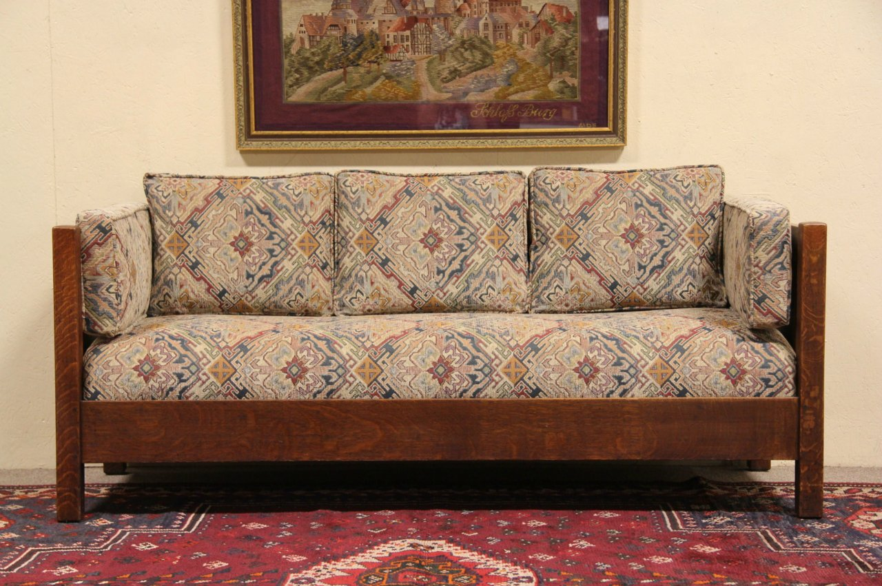 Arts And Crafts Sofa Antique Pullman Stickley Arts And