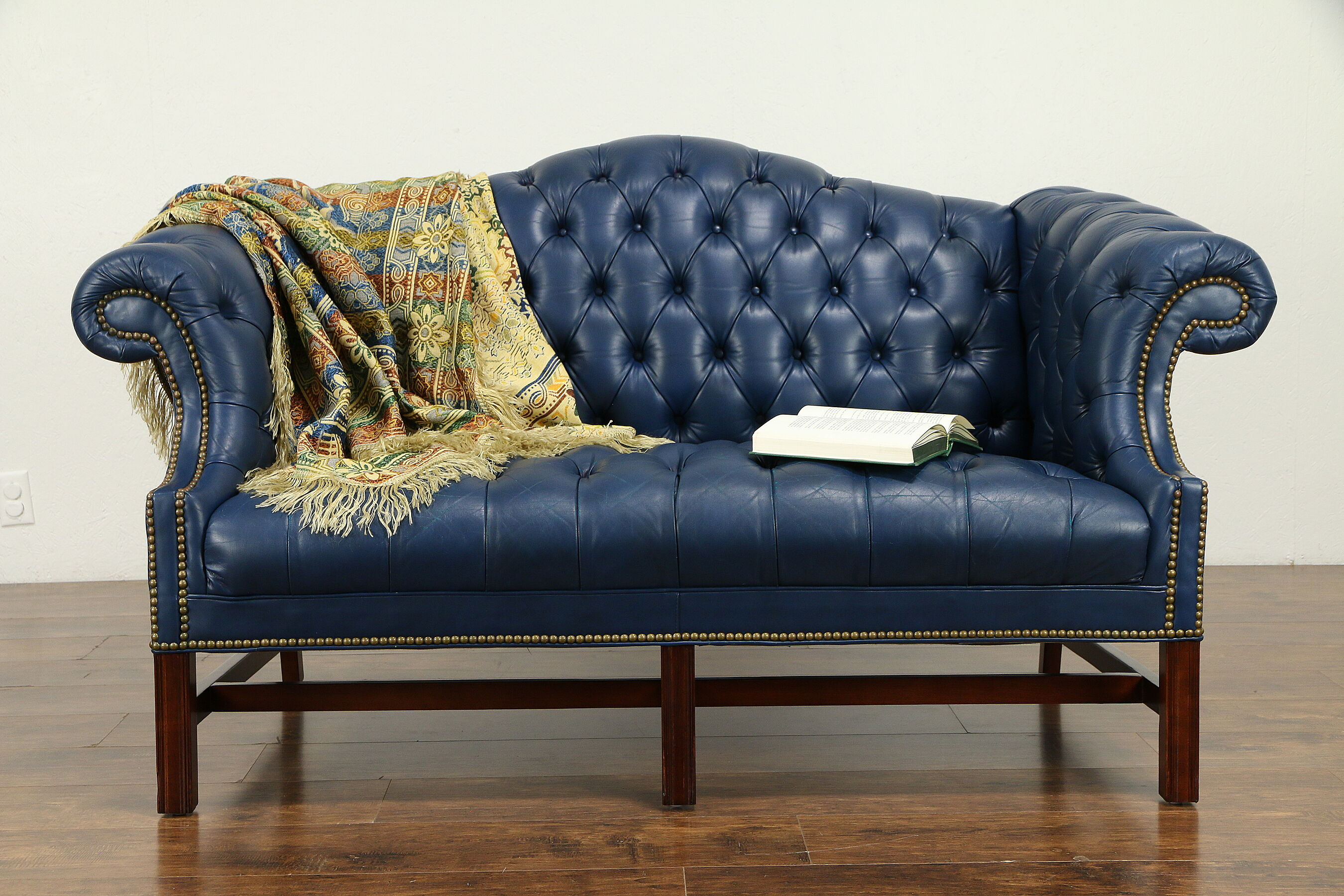 - SOLD - Chesterfield Vintage Tufted Leather Sofa Or Loveseat #31286