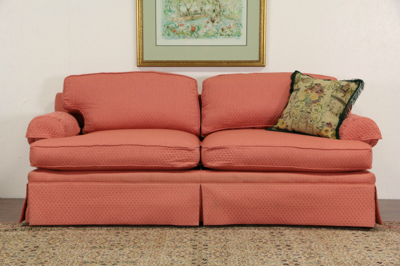Delicieux Milling Road By Baker Signed Vintage 2 Cushion Sofa