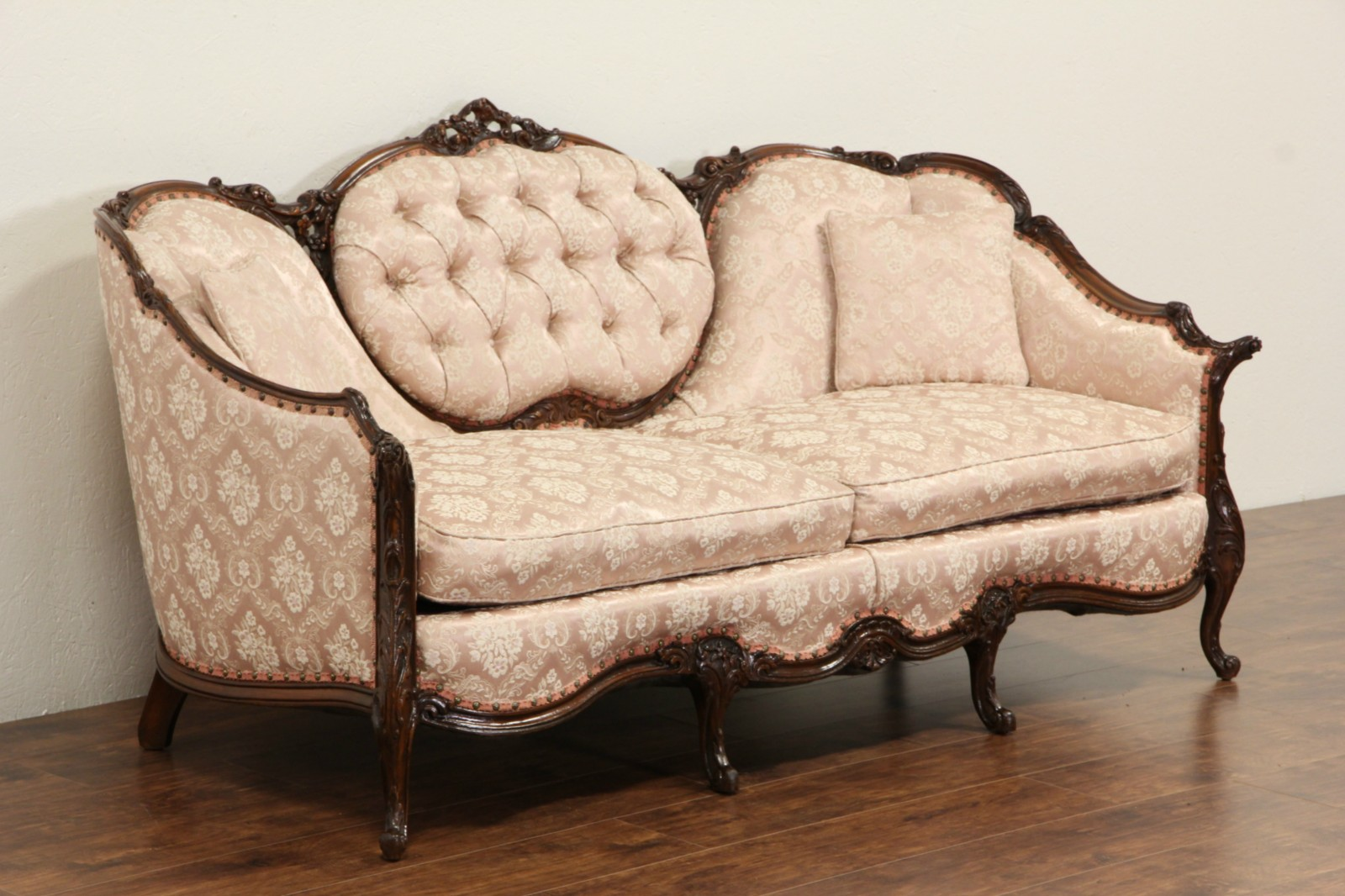 Sold French Style Carved Frame 1940 S Vintage Sofa