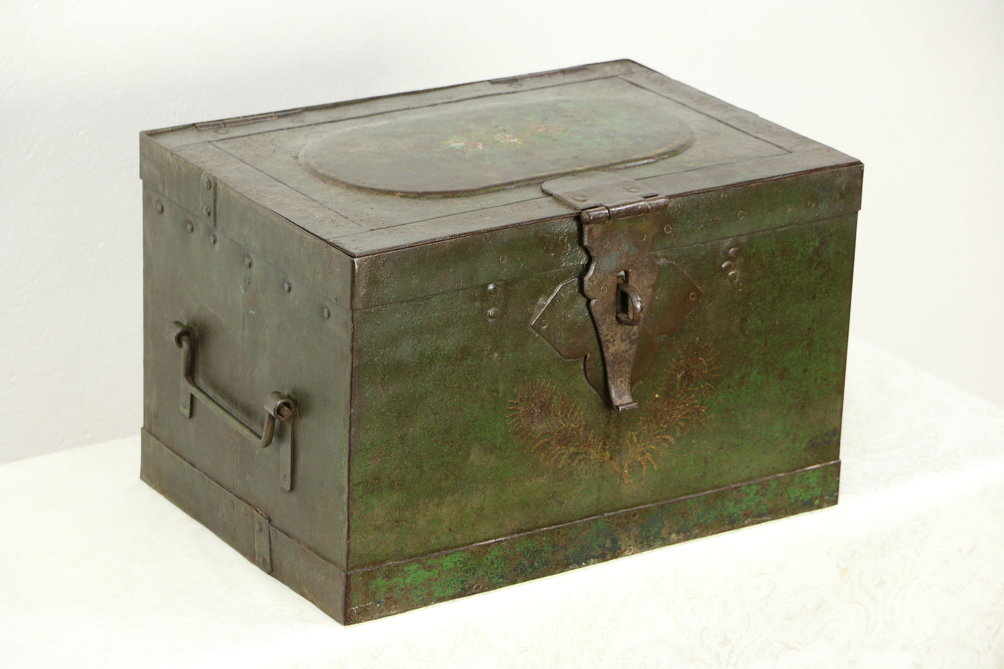 Sold Victorian 1850 S Antique Iron Railroad Strong Box