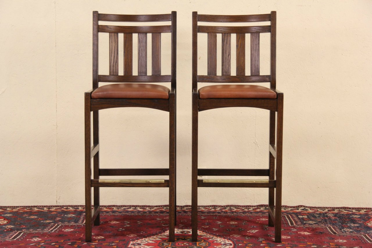 Sold Pair Of Mission Oak Arts Amp Crafts Style Vintage