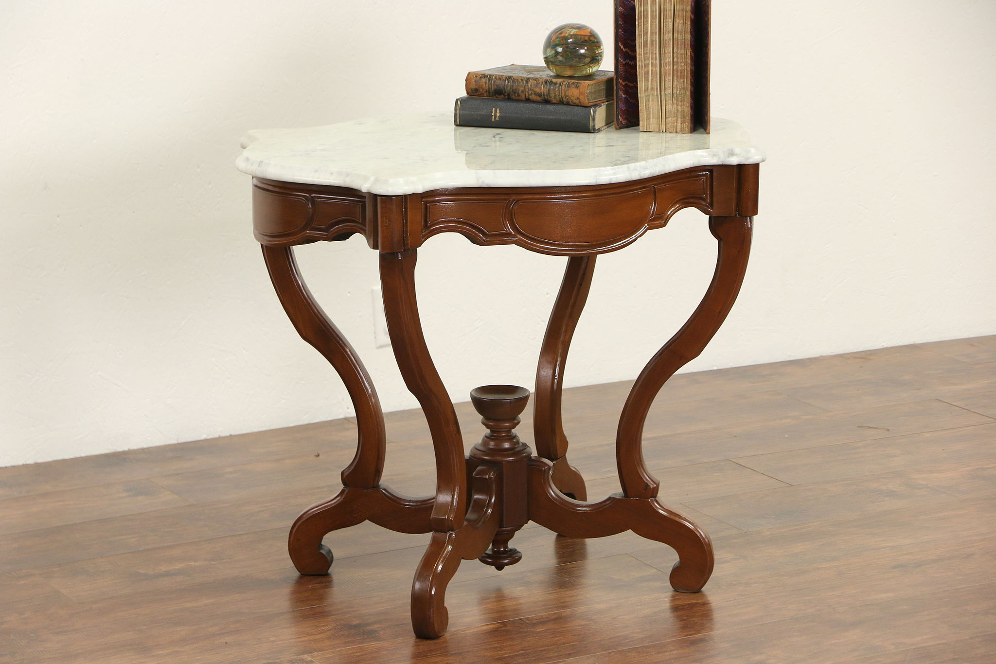 Sold victorian 1860s antique marble top walnut parlor or lamp victorian 1860s antique marble top walnut parlor or lamp table geotapseo Image collections
