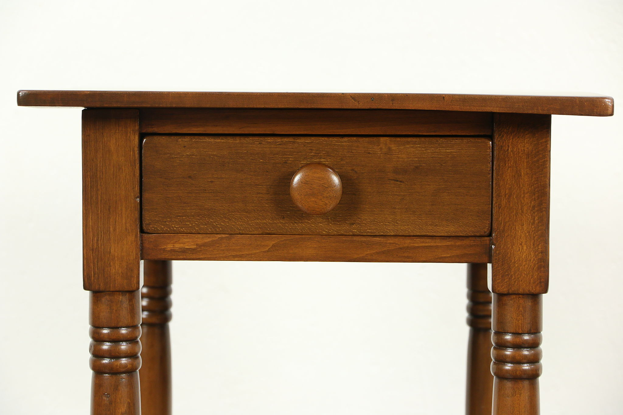 Nightstand Or 1840u0027s One Drawer Antique Lamp Table ...