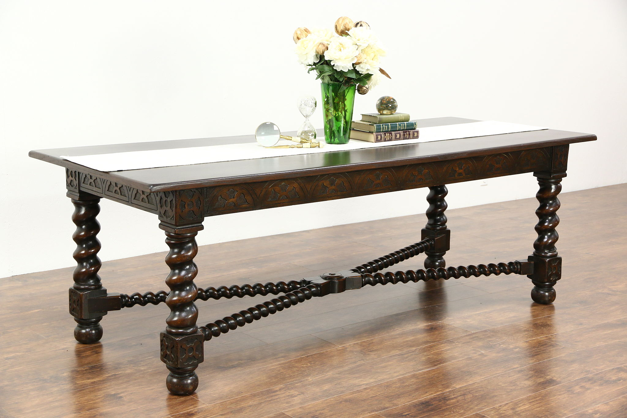 SOLD Renaissance French Oak Antique Dining or Library Table