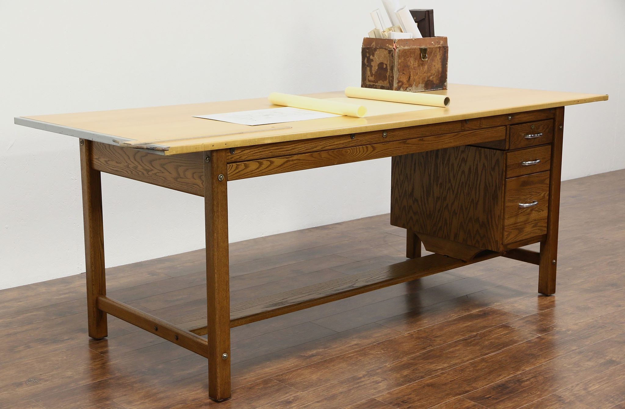 SOLD Drafting Table Counter Kitchen Island 1950 Vintage 8