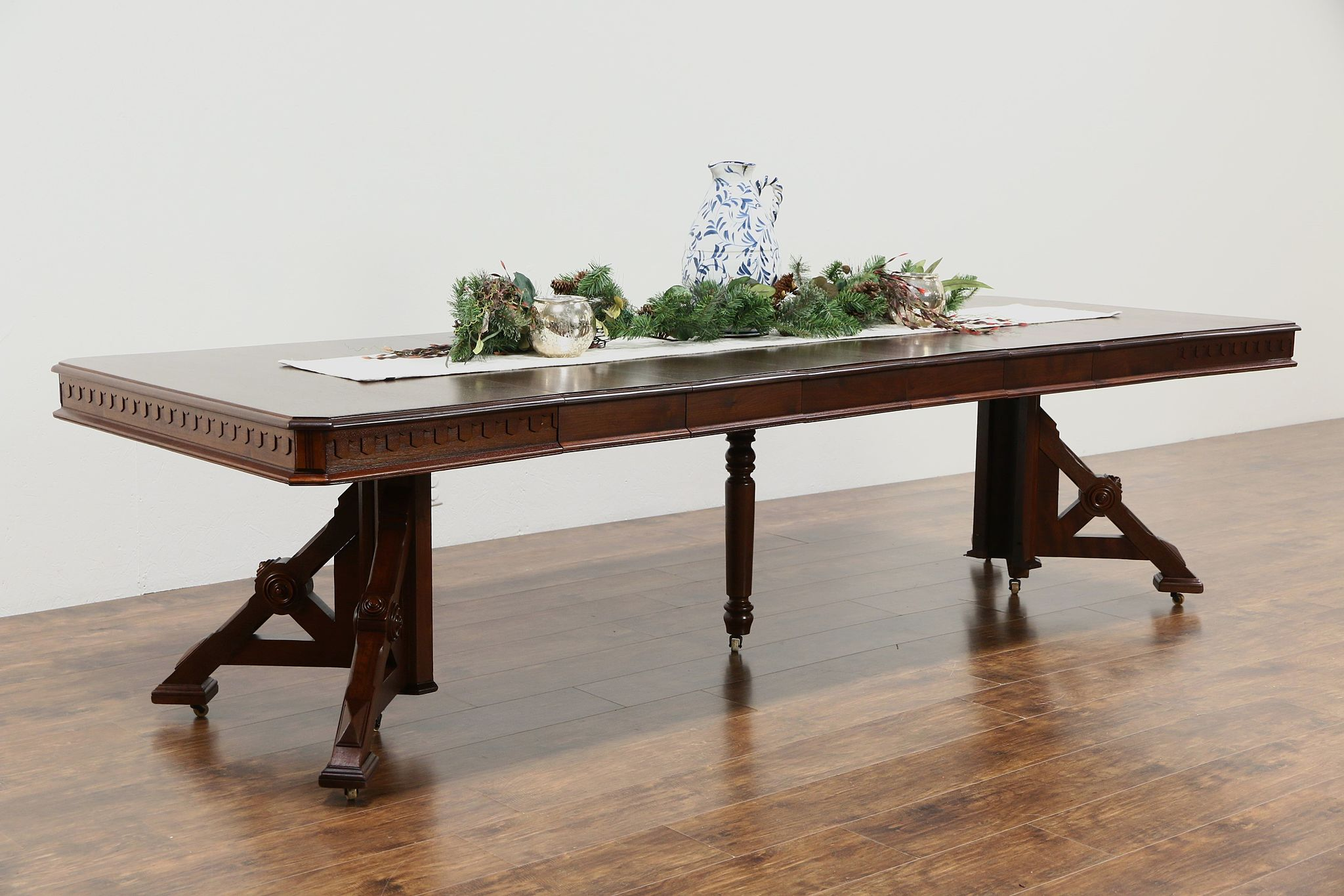 sold victorian eastlake 1880 antique walnut dining table 6