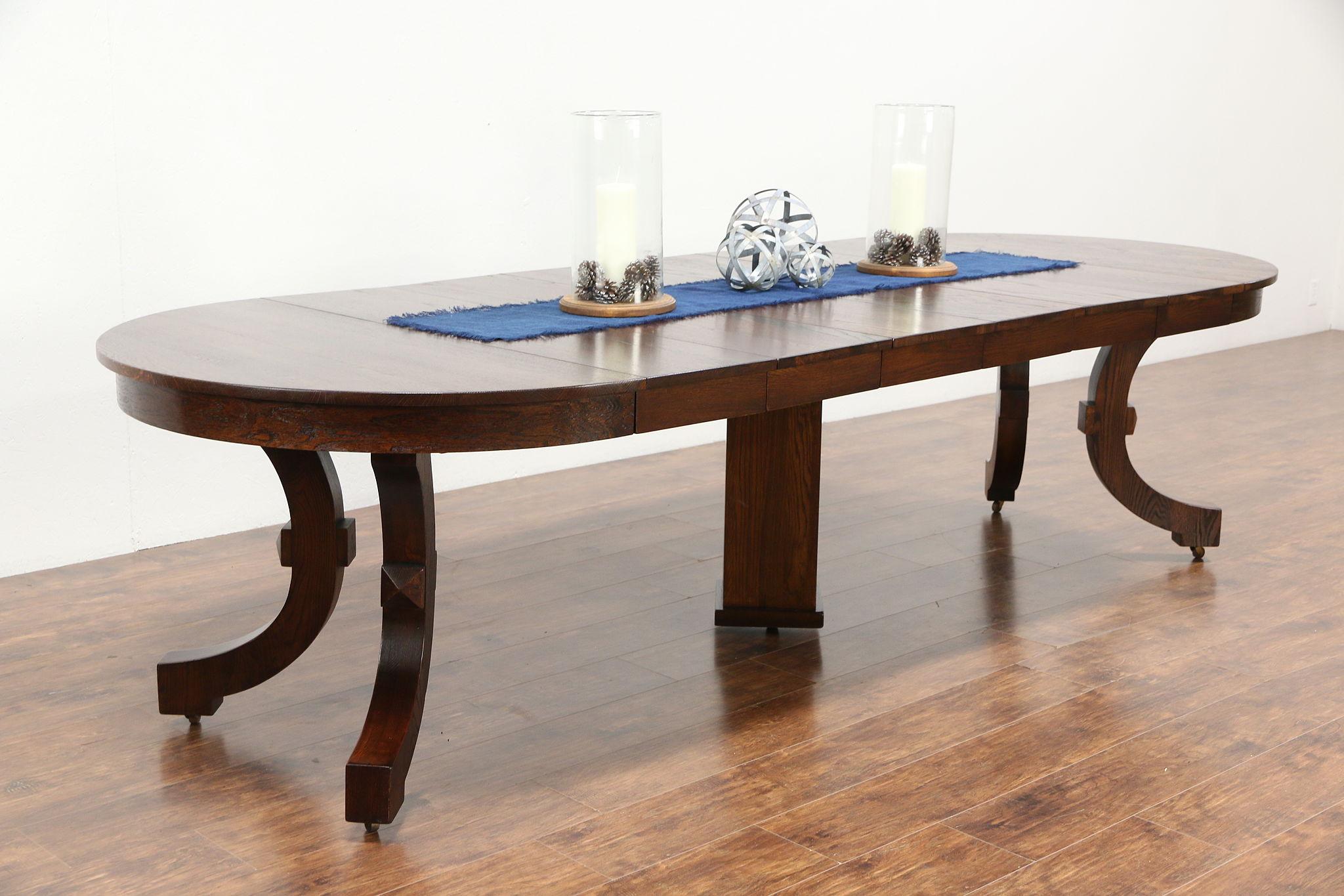 Sold Arts Crafts Mission Oak Antique 45 Craftsman Dining Table