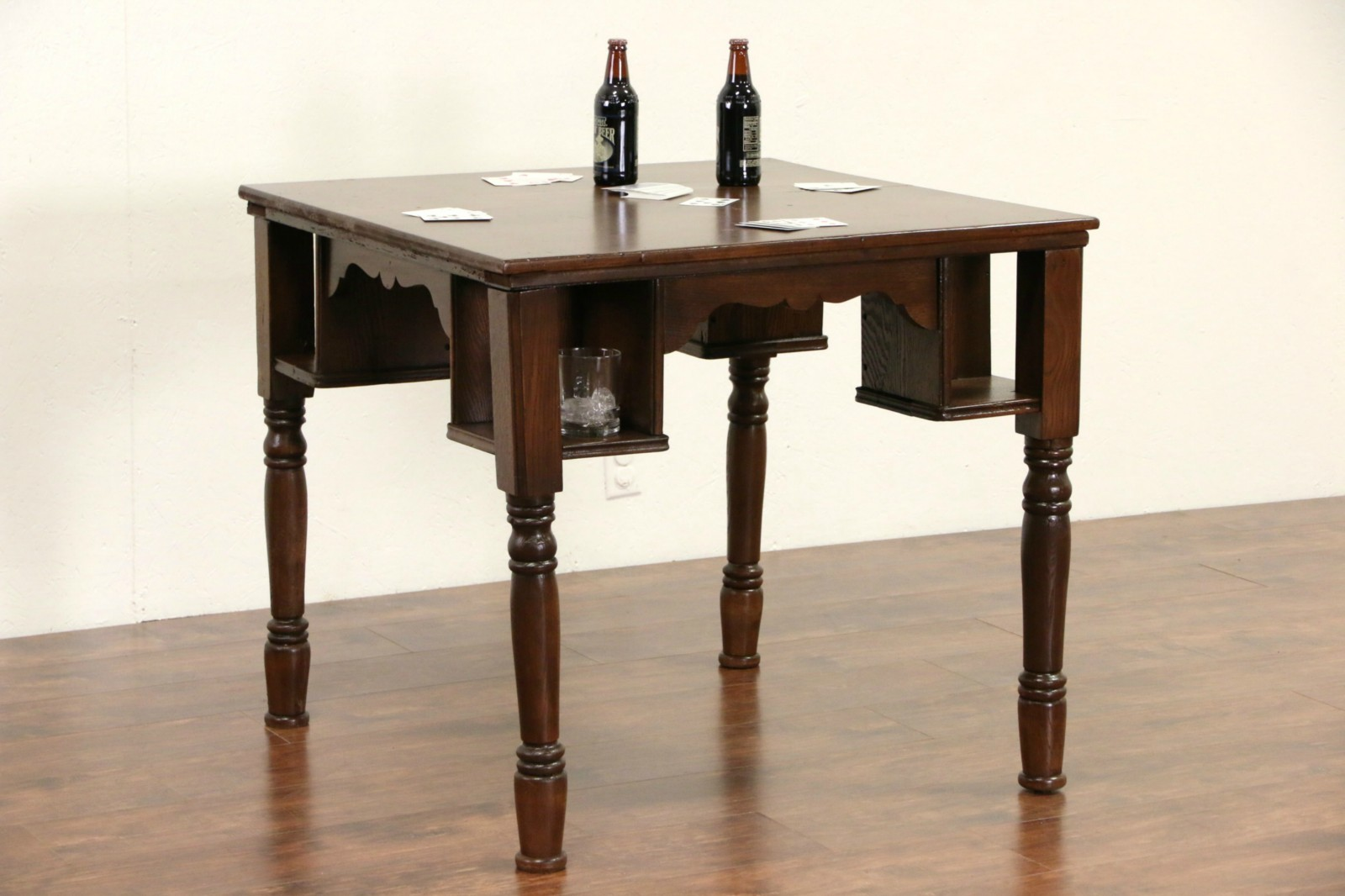 Pub, Tavern Or Saloon 1900 Antique Game Table, ...